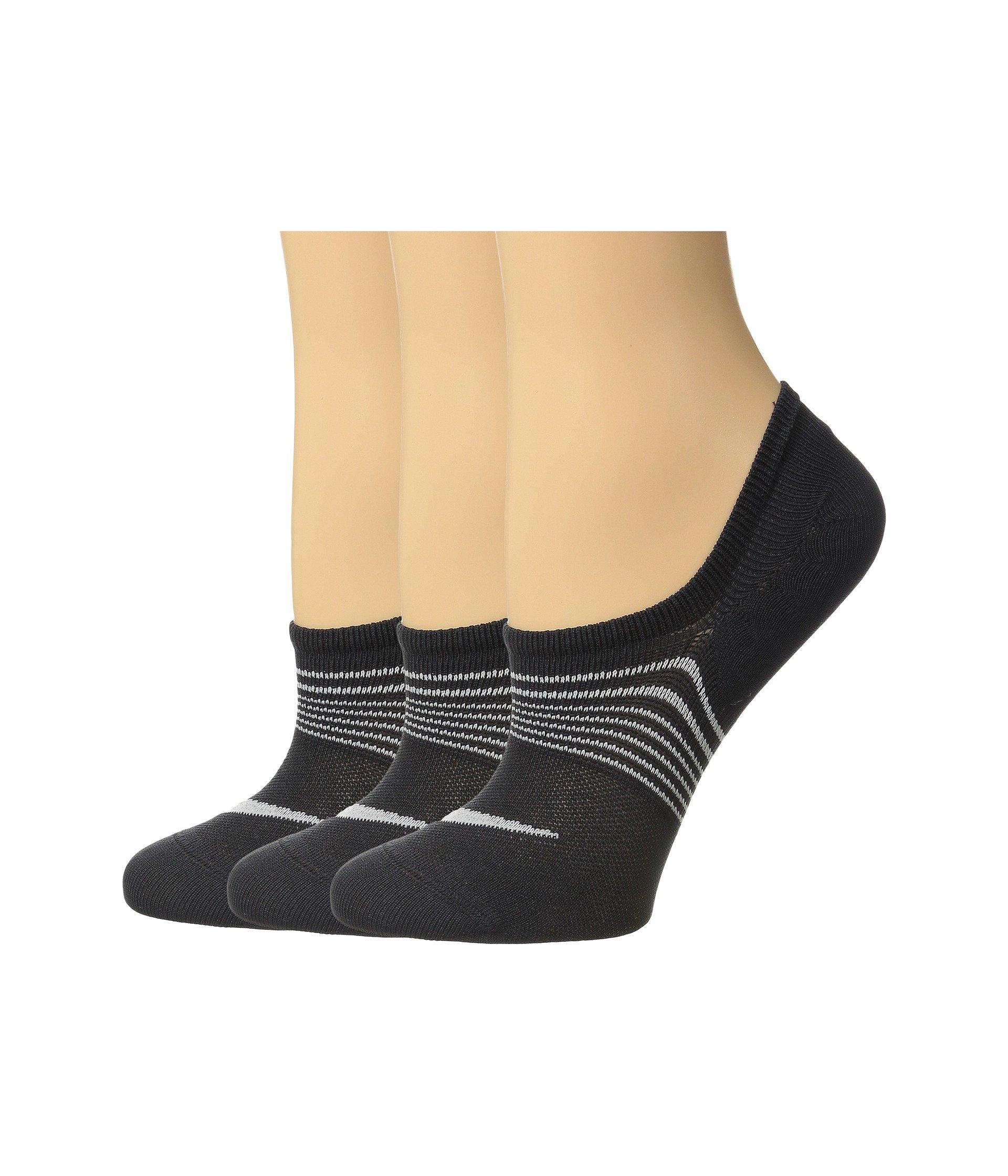 c655a4a002 Nike. Black 3-pair Pack Lightweight Footie (multicolor 19) Women's No Show  Socks Shoes