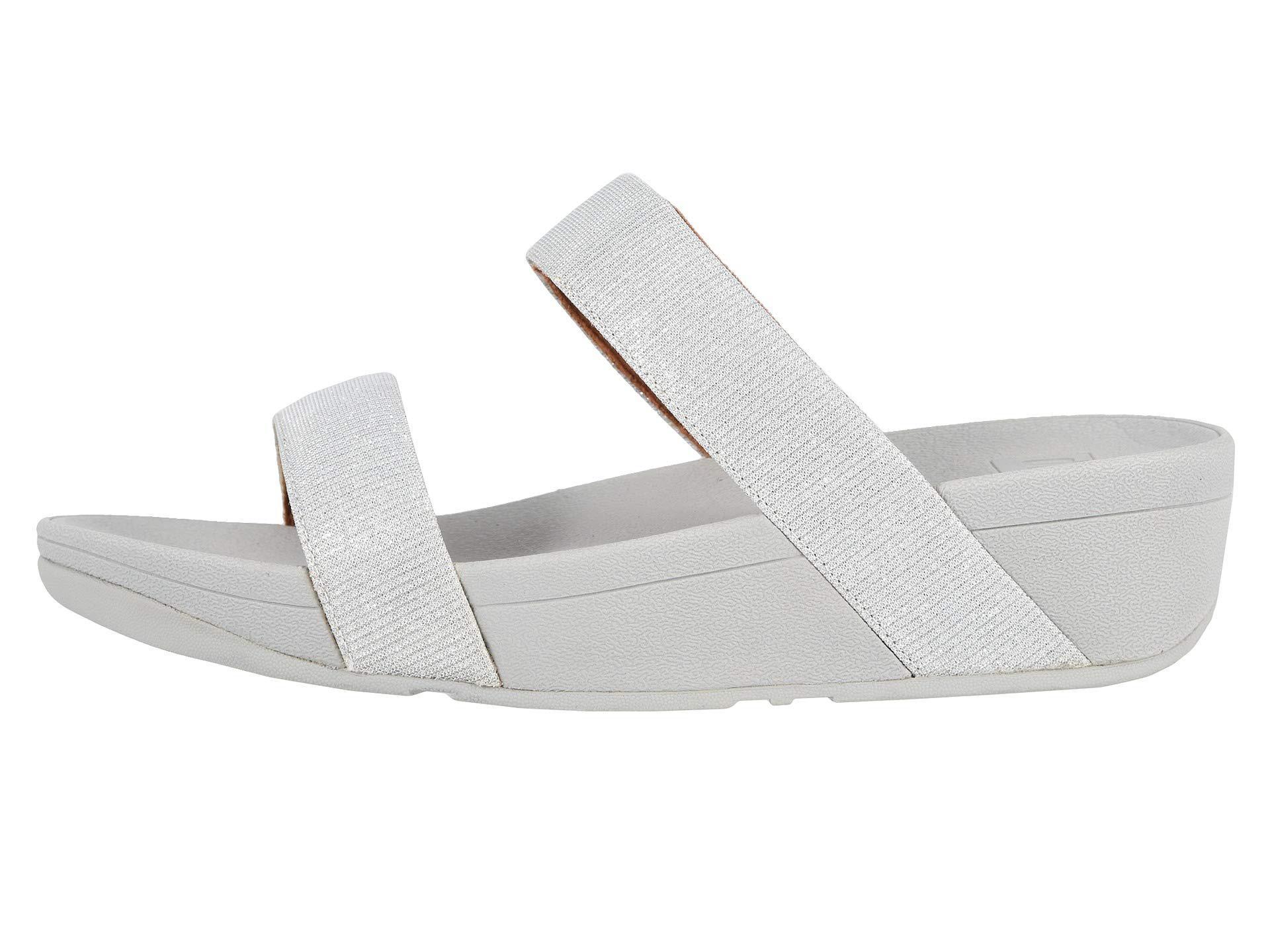 32bc899bd Lyst - Fitflop Lottie Glitzy Slide (black) Women s Shoes in Metallic