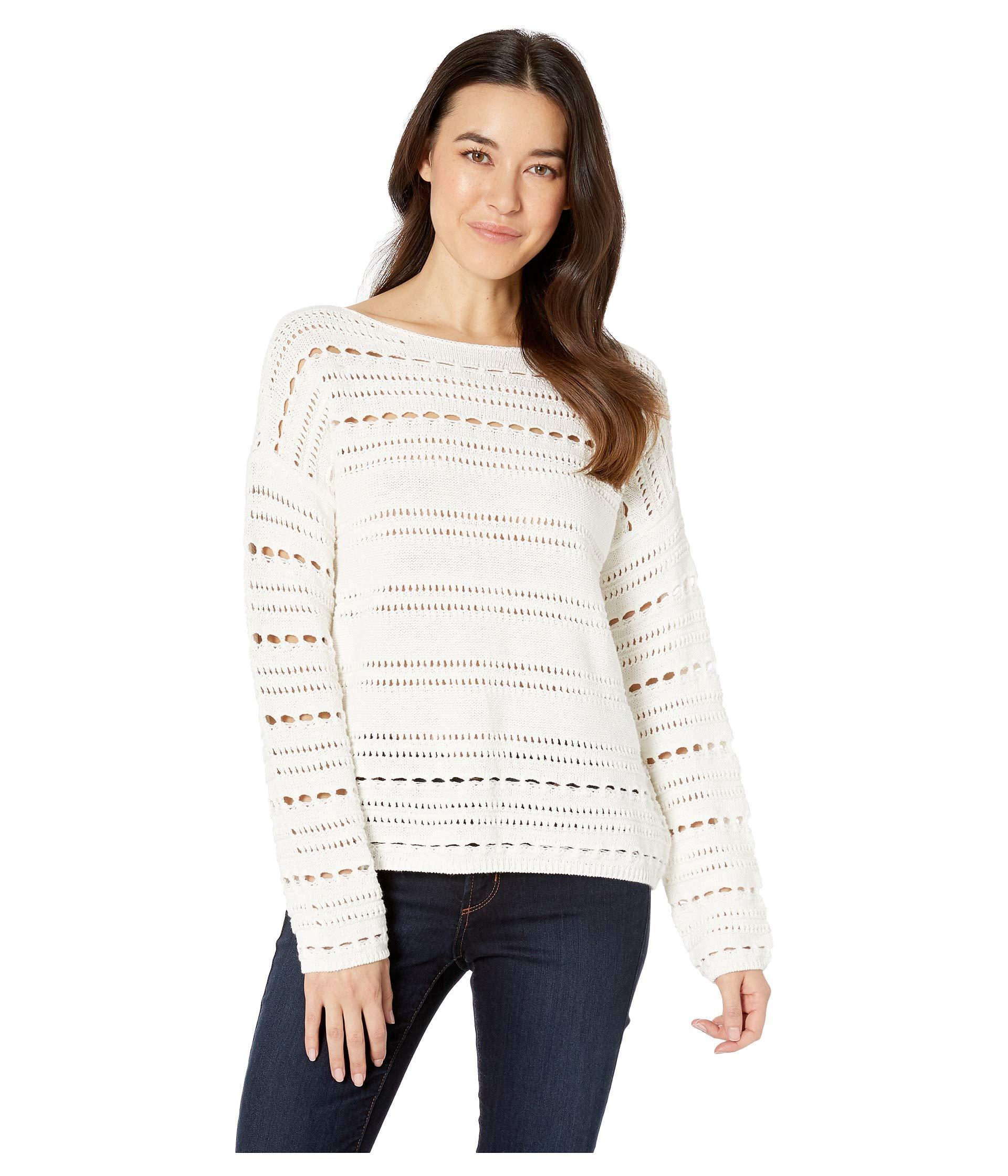 c08bd4ff3dc8c Lyst - Two By Vince Camuto Long Sleeve Open Stitch Cotton Sweater ...