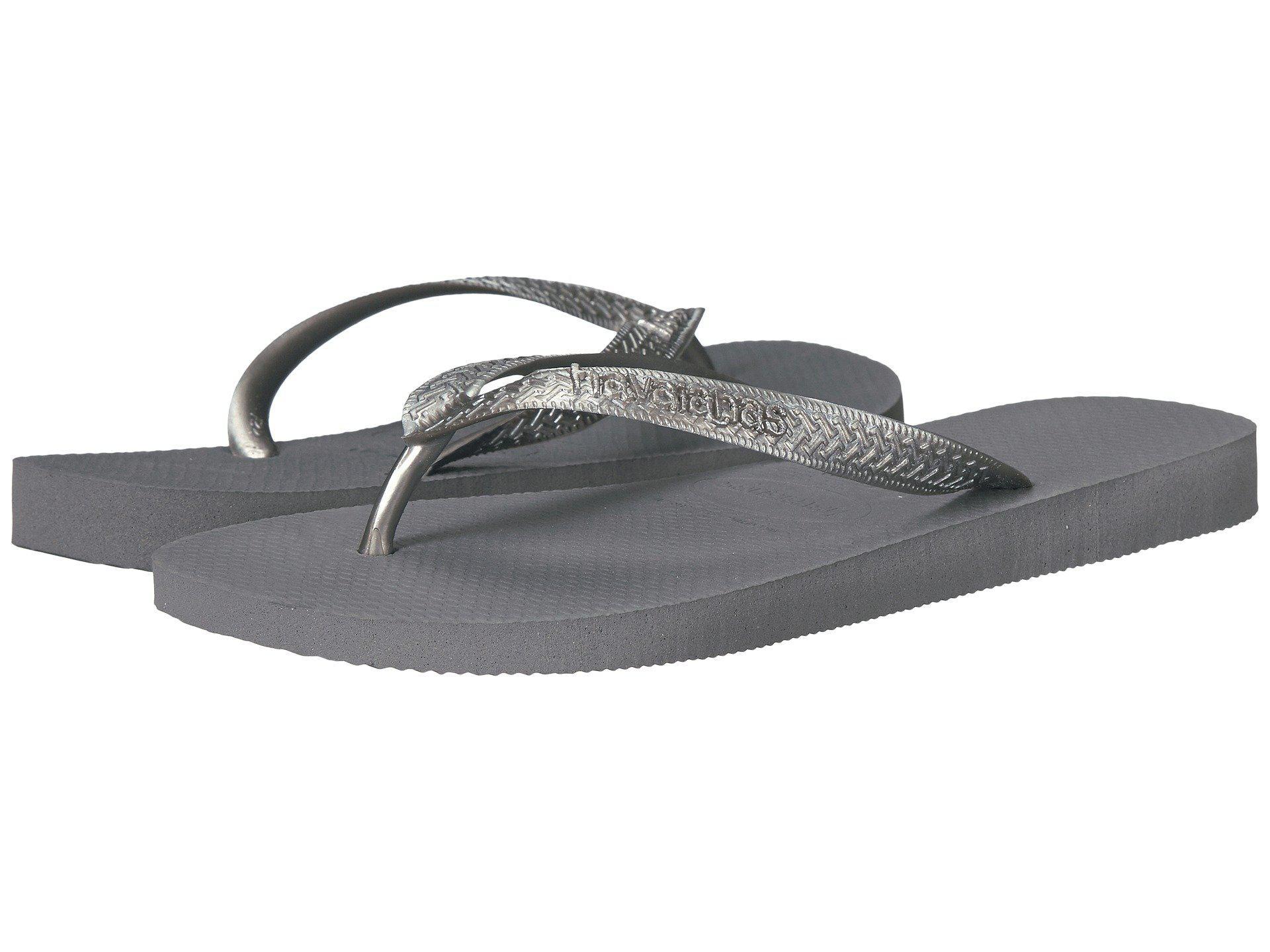 4514da5c6140 Lyst - Havaianas Top Tiras Flip-flops (steel Grey) Women s Sandals ...