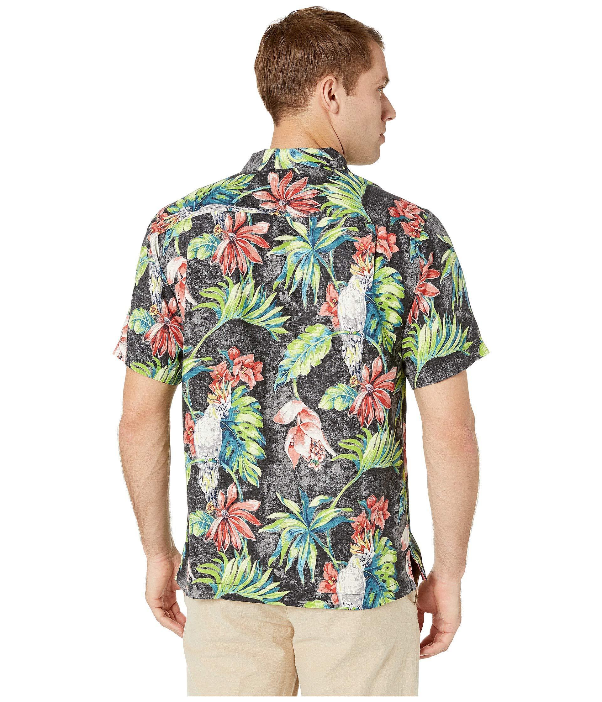 7b747cb1 Tommy Bahama - Tahitian Tweets Hawaiian Camp Shirt (black) Men's Clothing  for Men -. View fullscreen