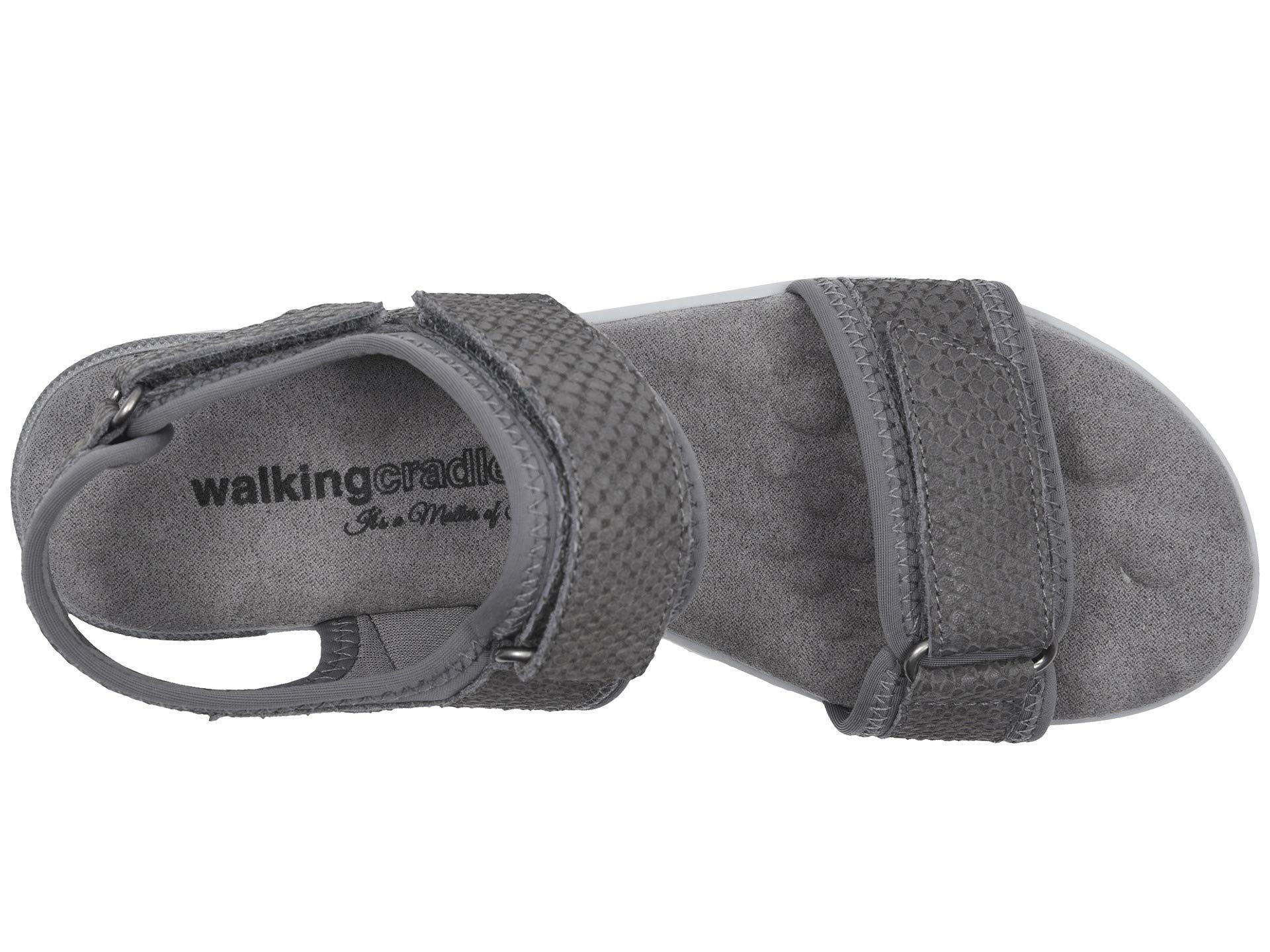 591e1e3ead8f Walking Cradles - Shea (slate Gray Lycra matte Snake Print) Women s Sandals  -. View fullscreen