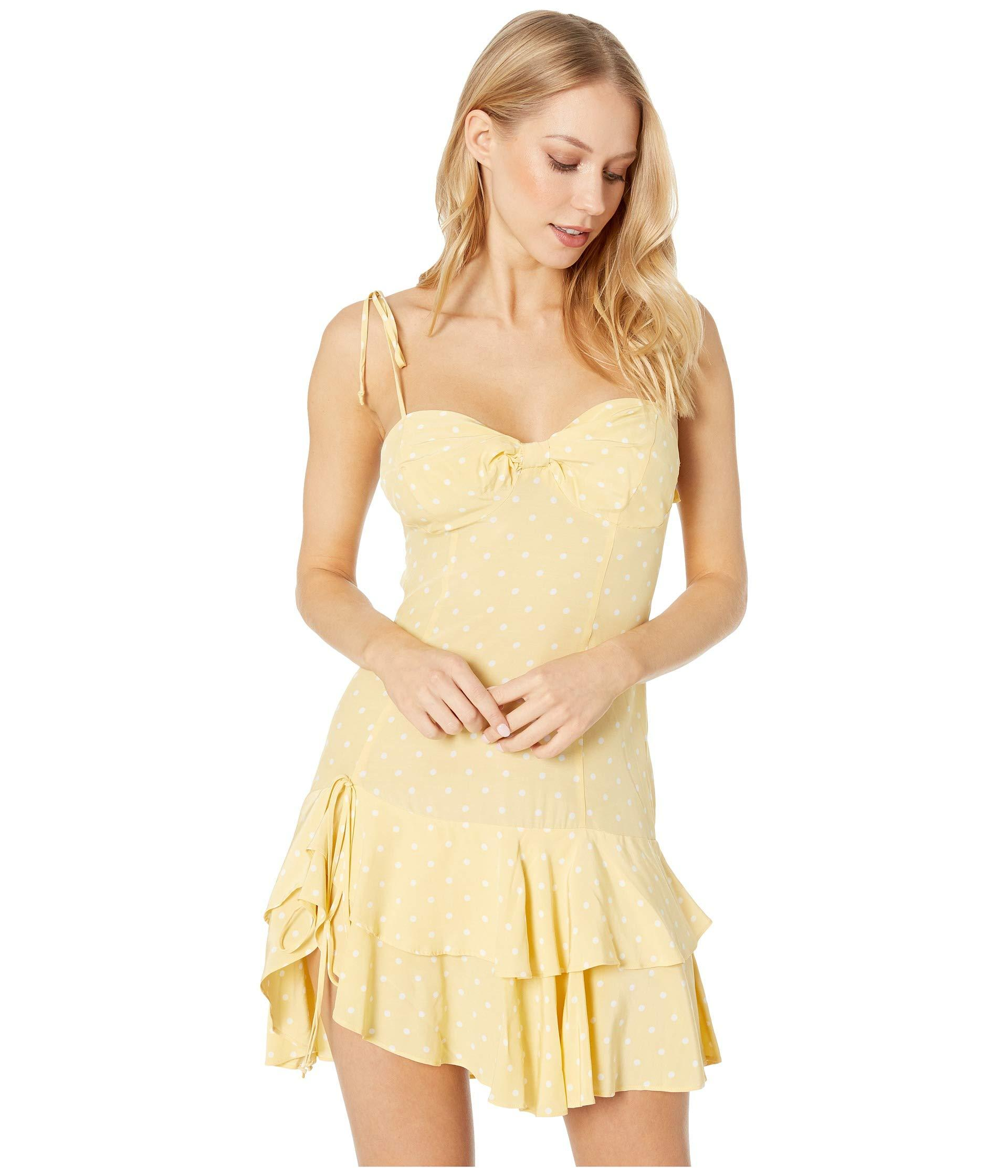 1471541815 Lyst - For Love   Lemons Limoncello Tiered Ruffle Dress (yellow ...