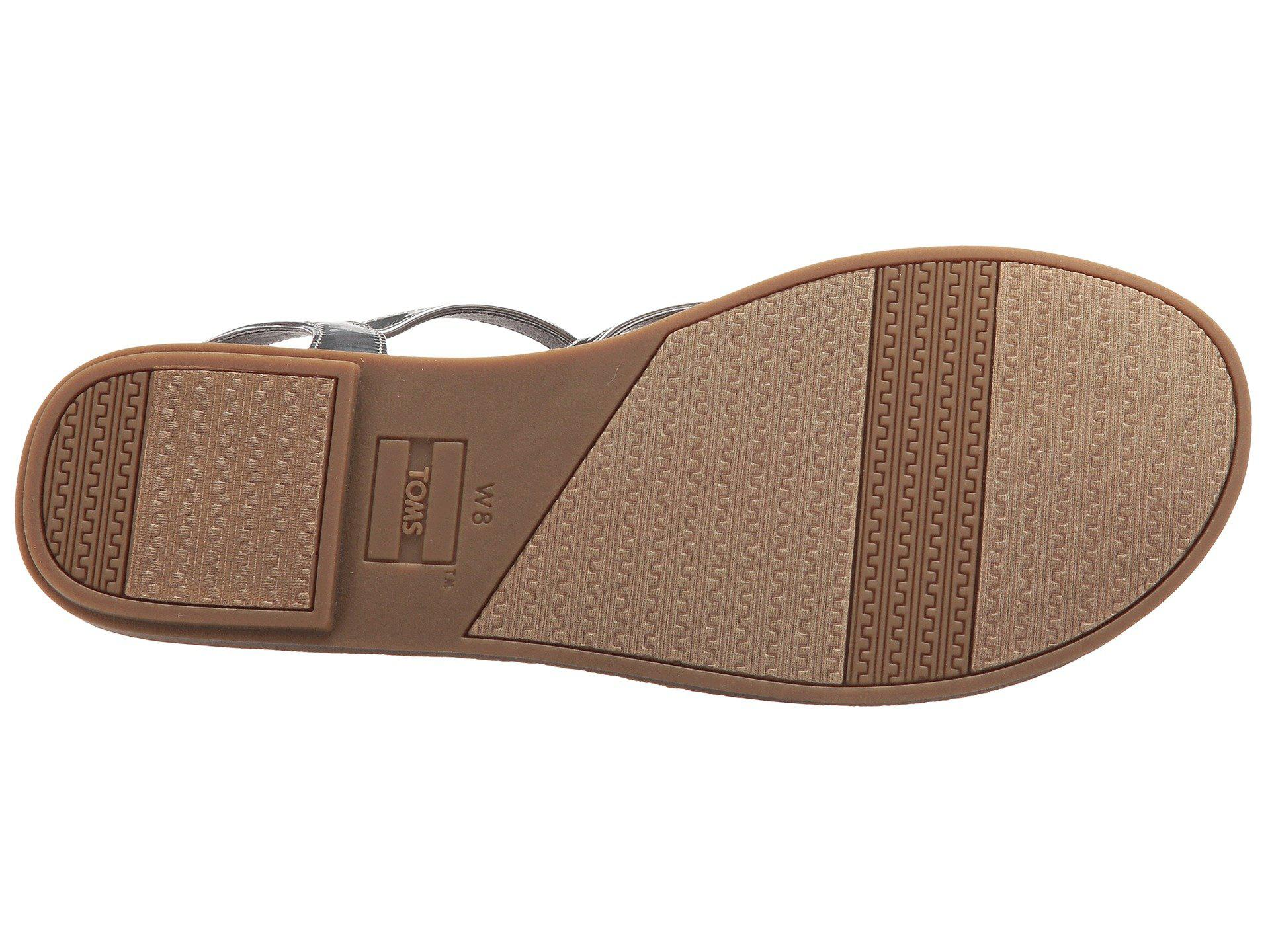 49e7108c9942c7 Lyst - Toms Lexie Sandal (oxford Tan Heritage Canvas diamond ...