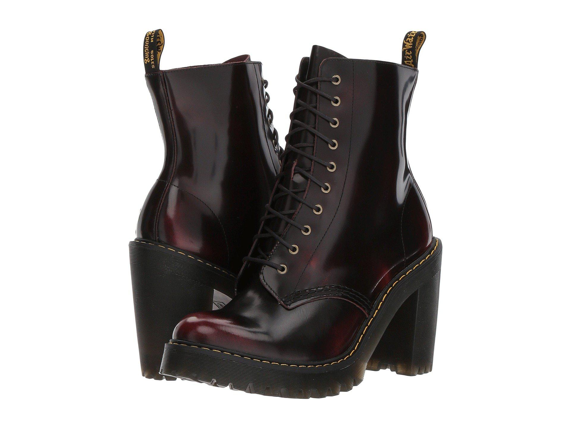 Lyst - Dr. Martens Kendra 10-eye Boot (cherry Red arcadia) Women s ... 112a3666bc