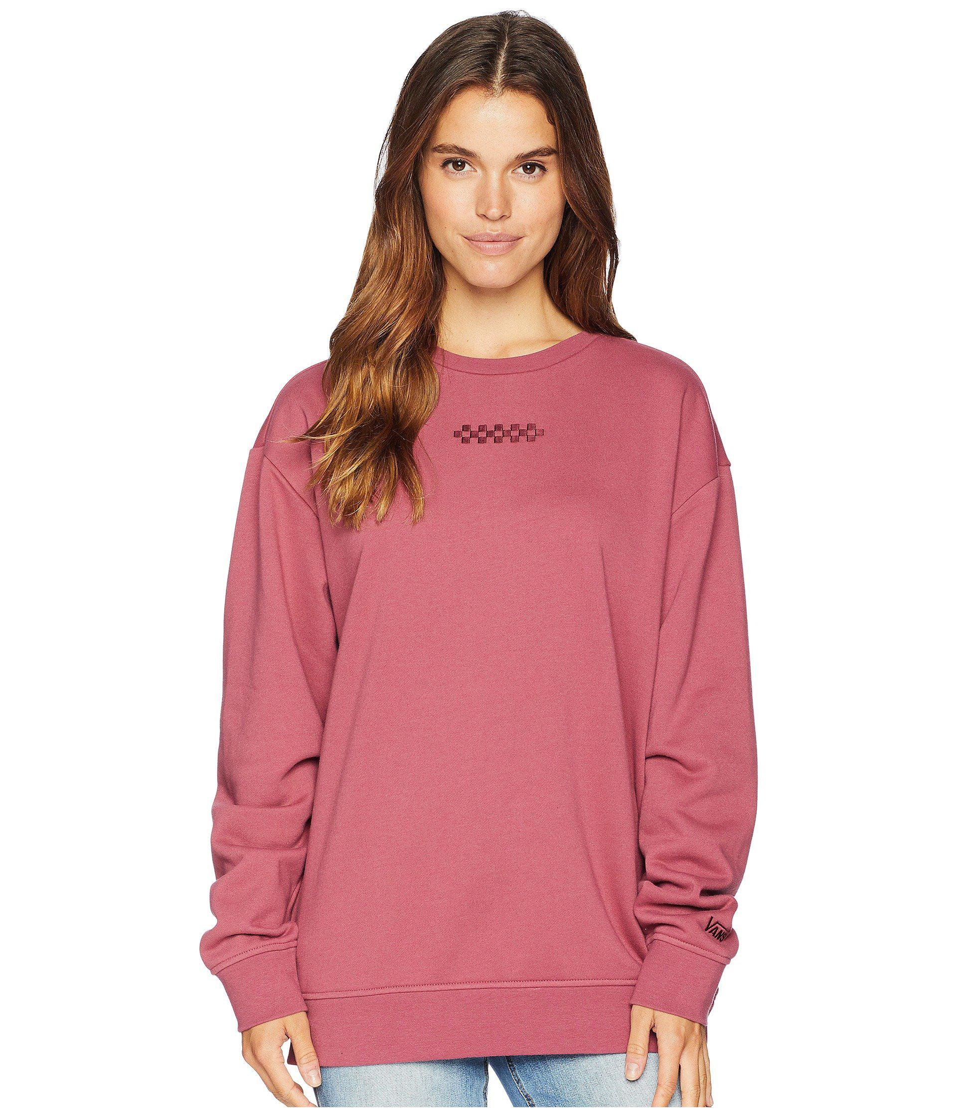 42b65b7c3f Lyst - Vans Overtime Crew (dry Rose) Women s Fleece in Pink