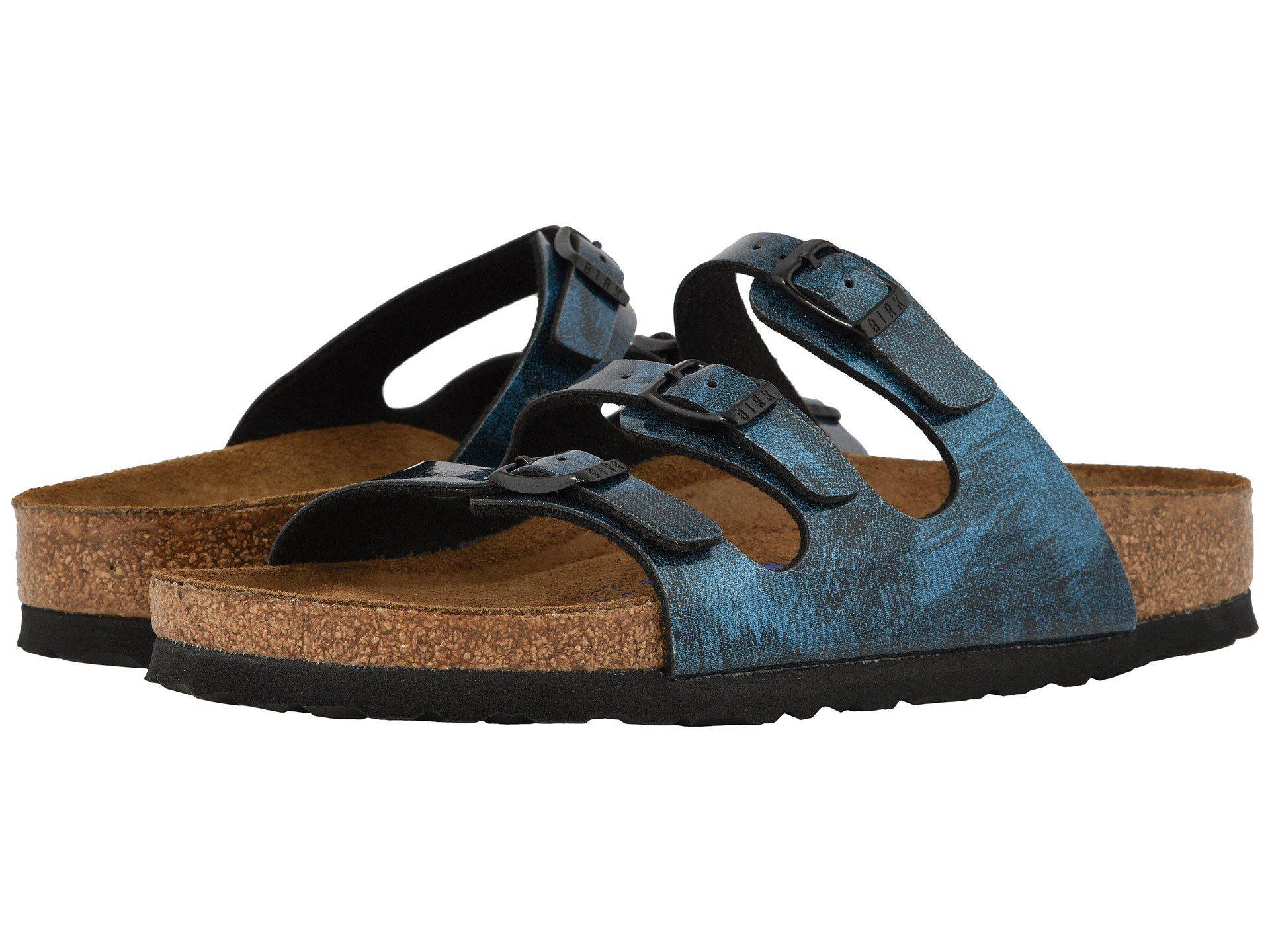 6d0a21d4da45 Birkenstock. Florida Fresh Soft Footbed (milky Way Blue Birko-flor) Women s  Shoes