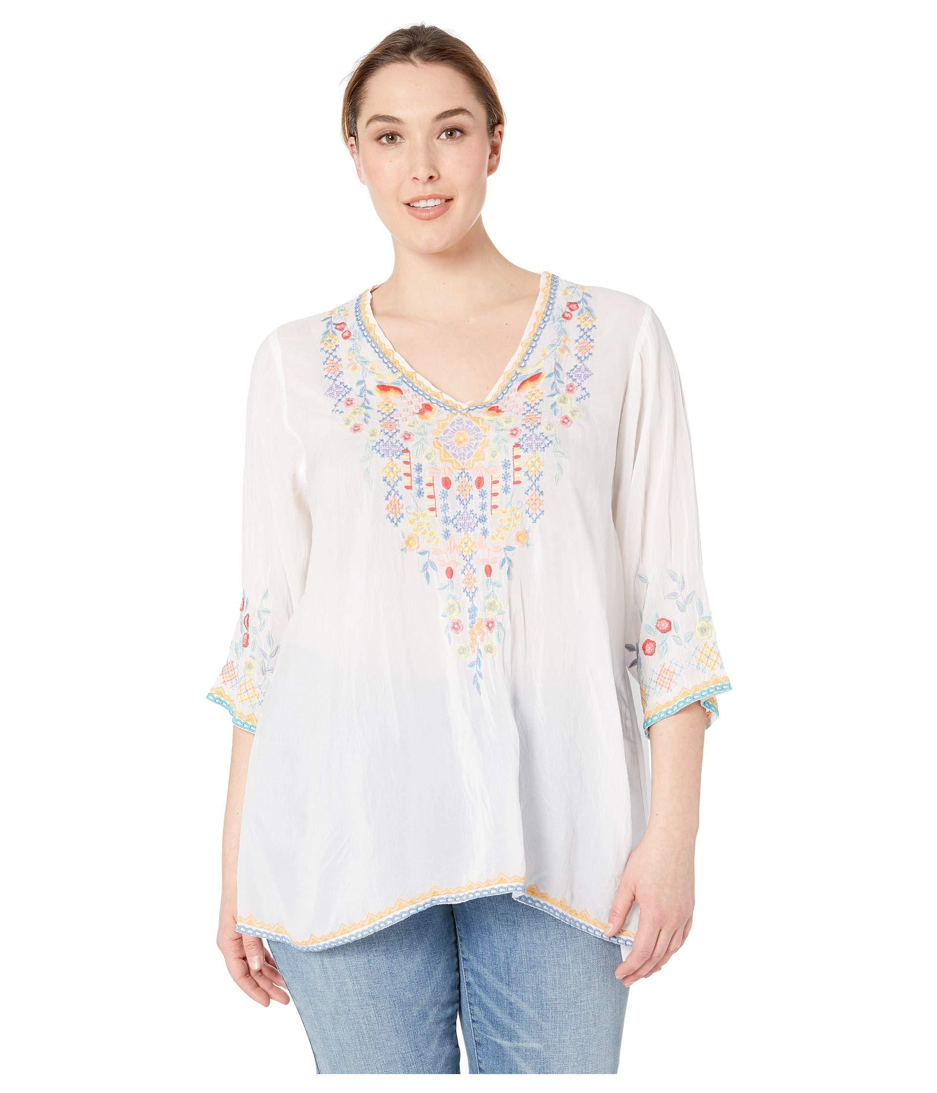 c01e1cf1f6102 Lyst - Johnny Was Plus Size Ryleigh Blouse (white) Women s Blouse in ...