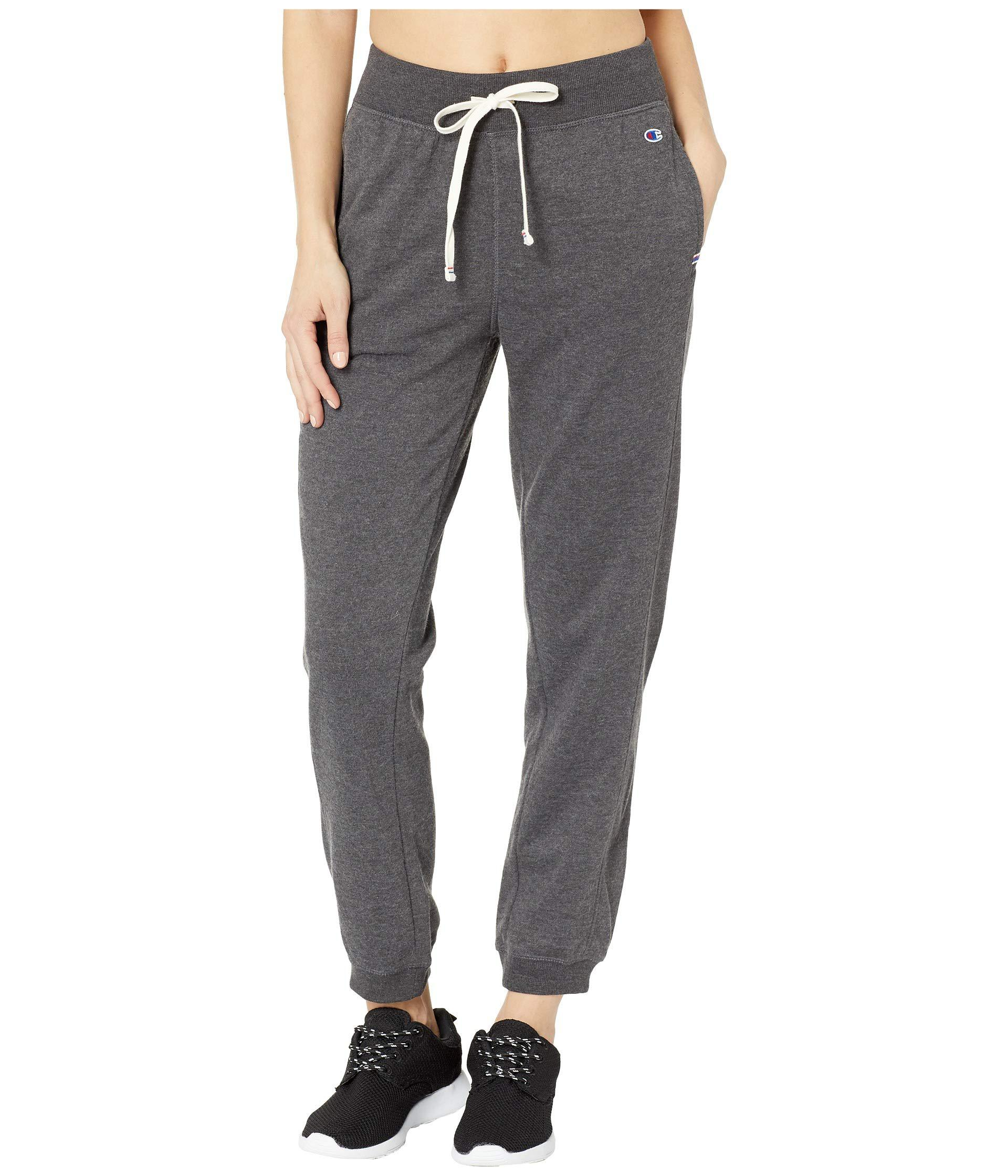 cfeae69323a8cf Champion Heritage French Terry Joggers (black) Women's Casual Pants ...