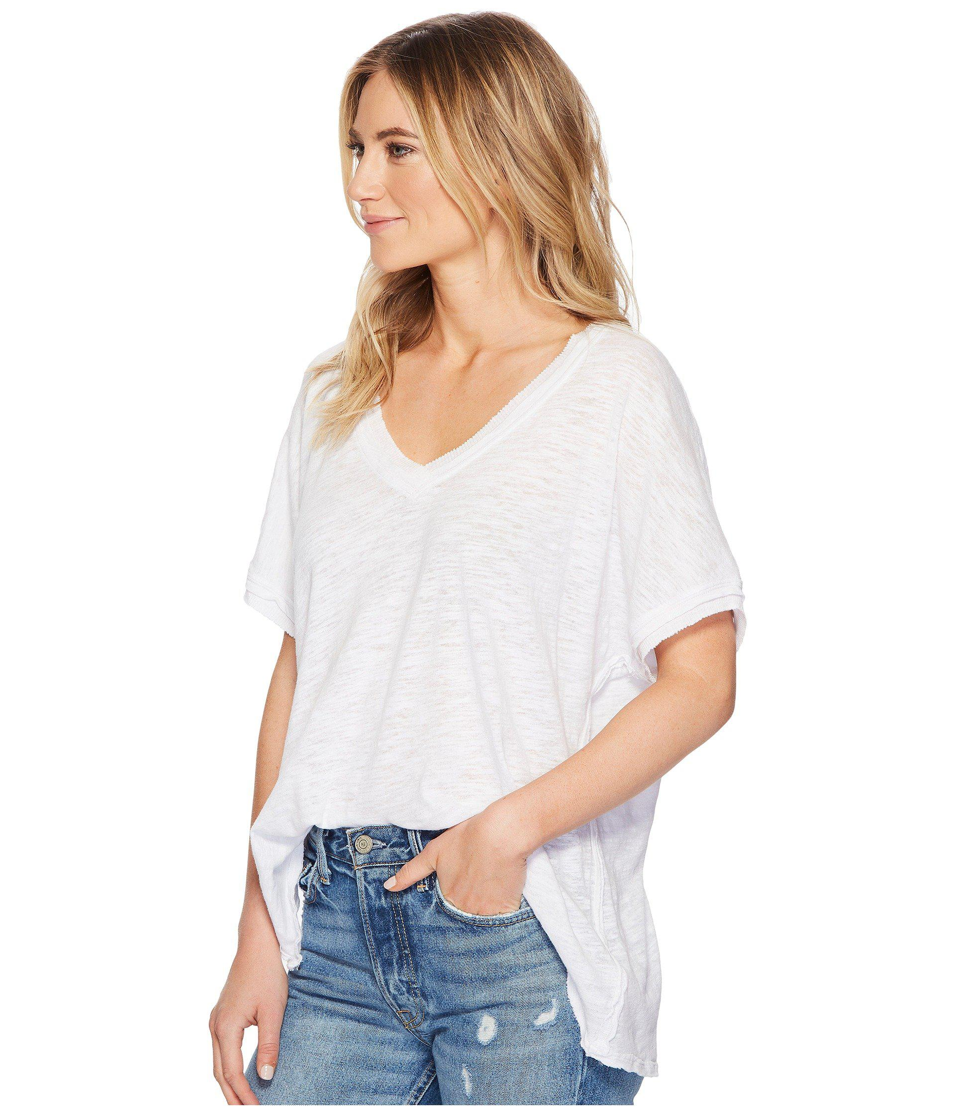 a80aa61fb4091 Lyst - Free People Take Me Tee in White