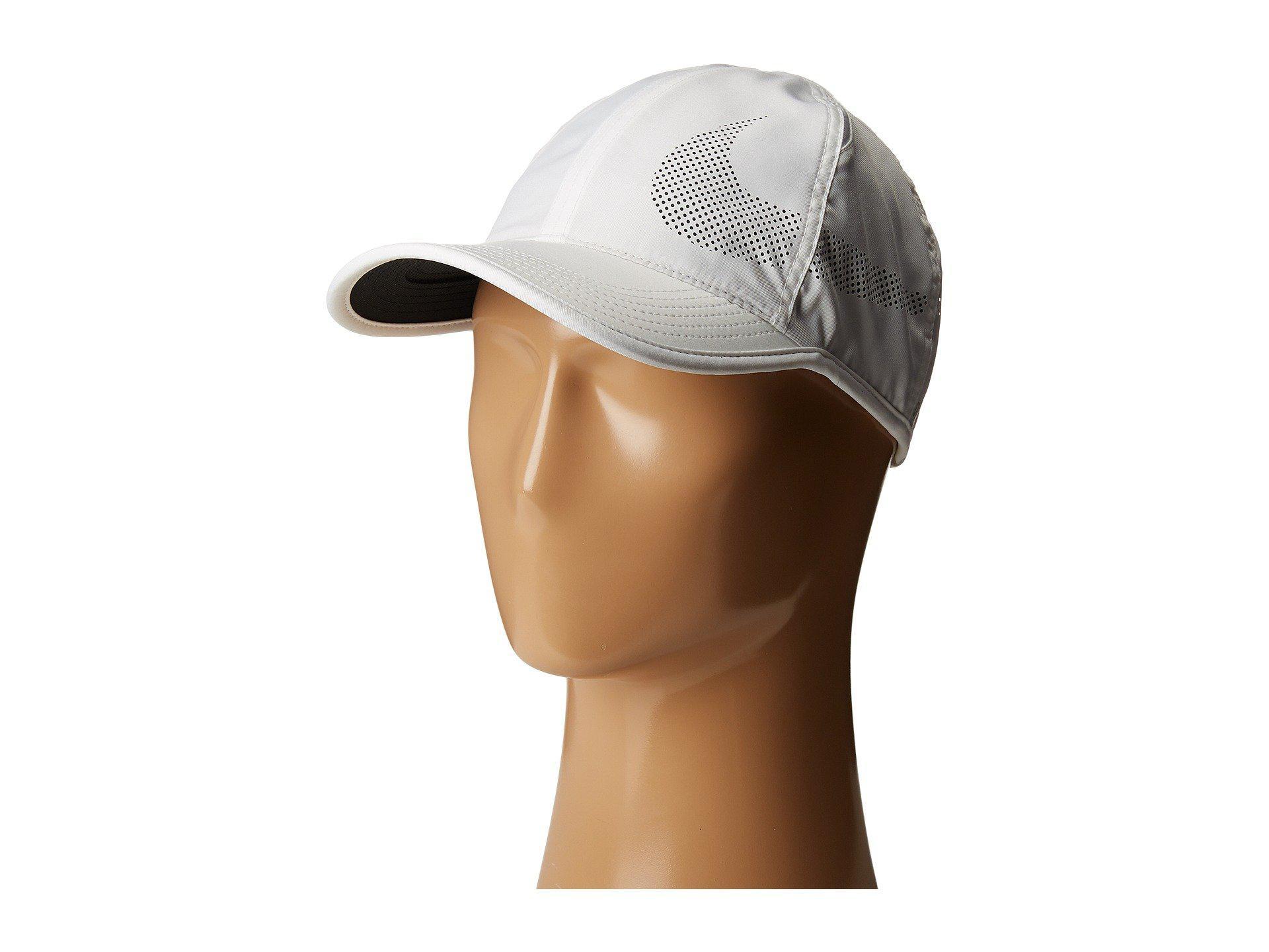 Nike. Men s Court Aerobill Featherlight Tennis Cap (white black black) Caps 2f35ffe749c3