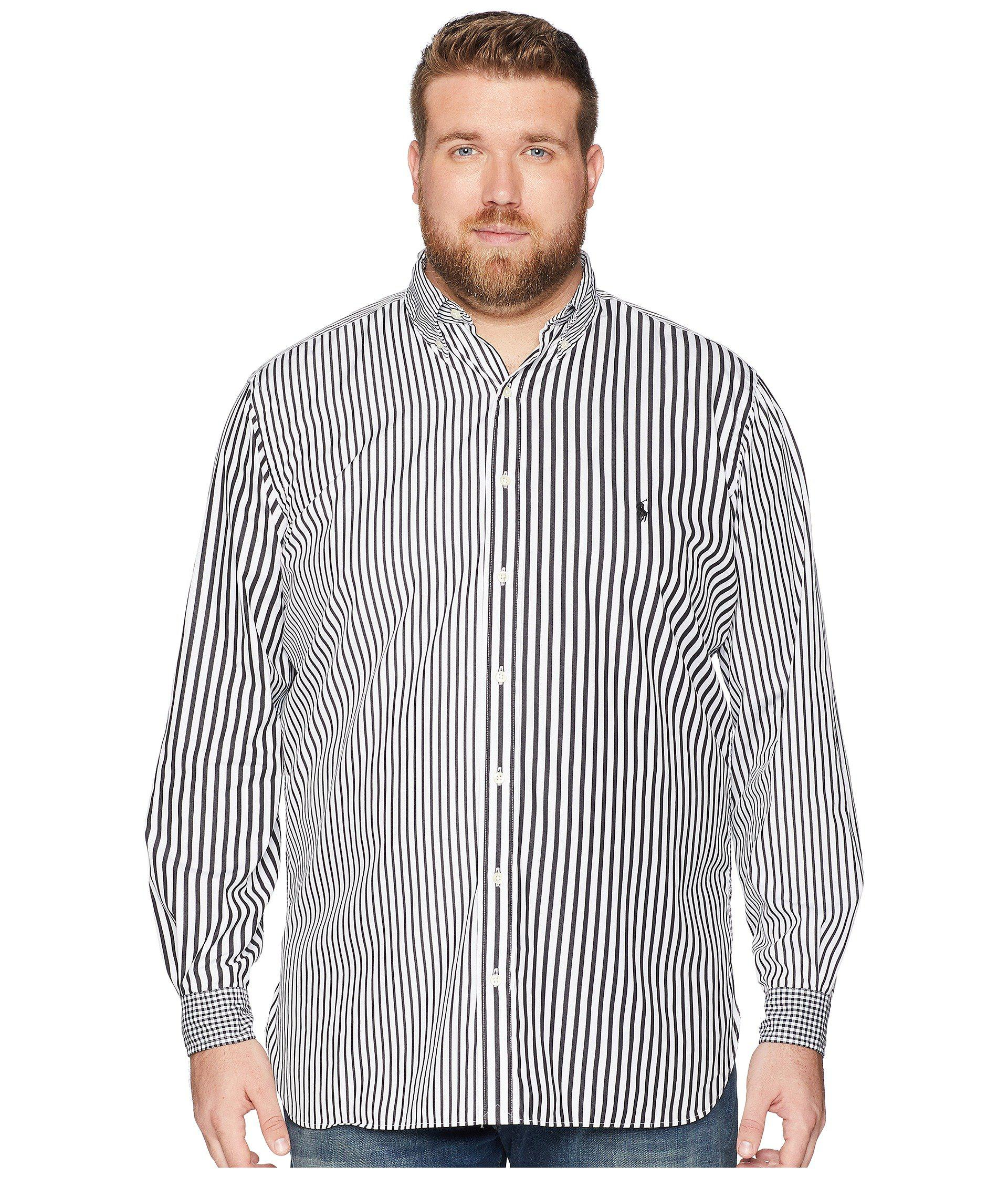 72070f72 clearance lyst polo ralph lauren slim fit large check shirt in red ...