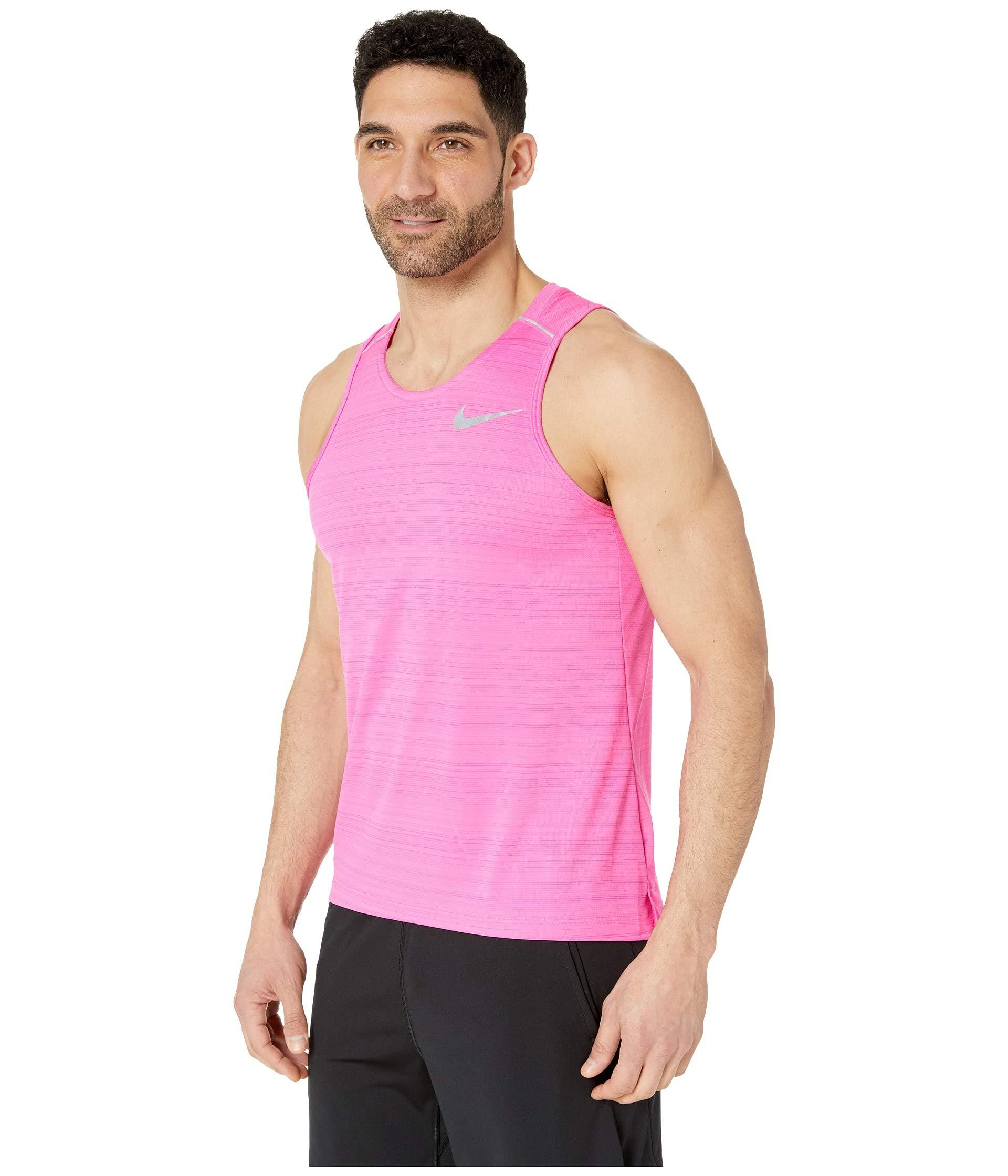 f249ad32 Nike Dry Miler Tank Top (white/vast Grey/reflective Silver) Men's ...