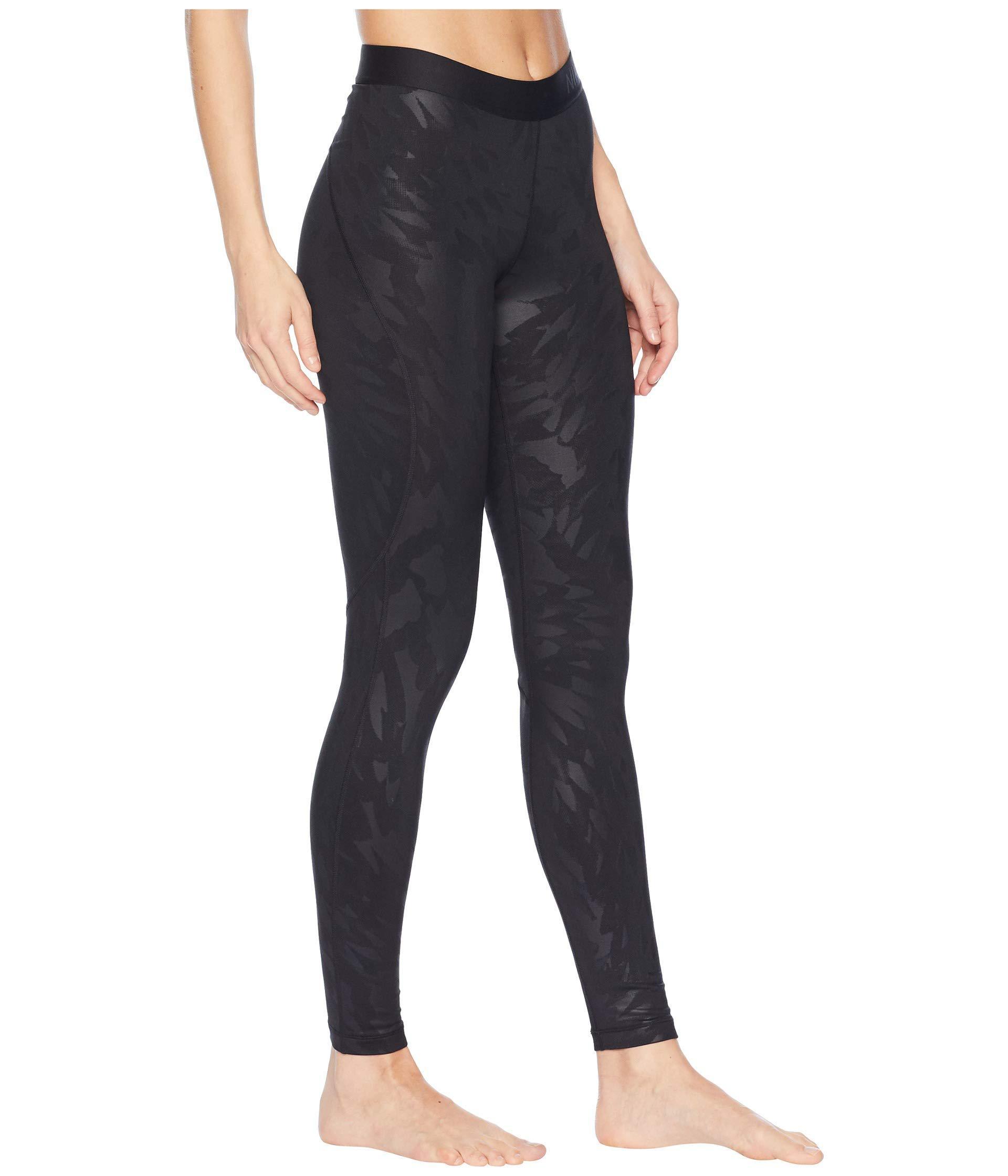 aeb363dd5f2f3 Nike Pro Warm Embossed Wing Tights (black/black) Women's Casual ...
