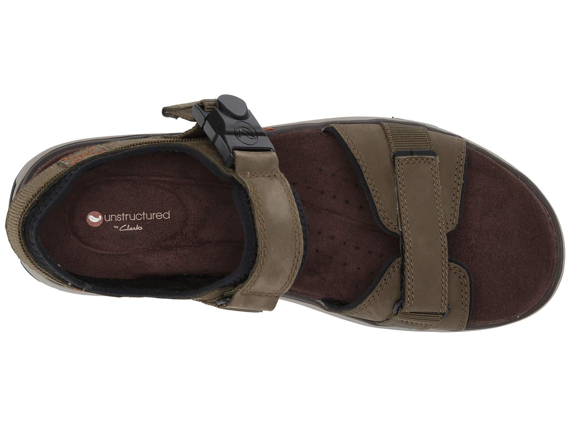 d53df7934 Clarks - Brown Untrek Part (dark Tan Leather) Men s Sandals for Men - Lyst.  View fullscreen