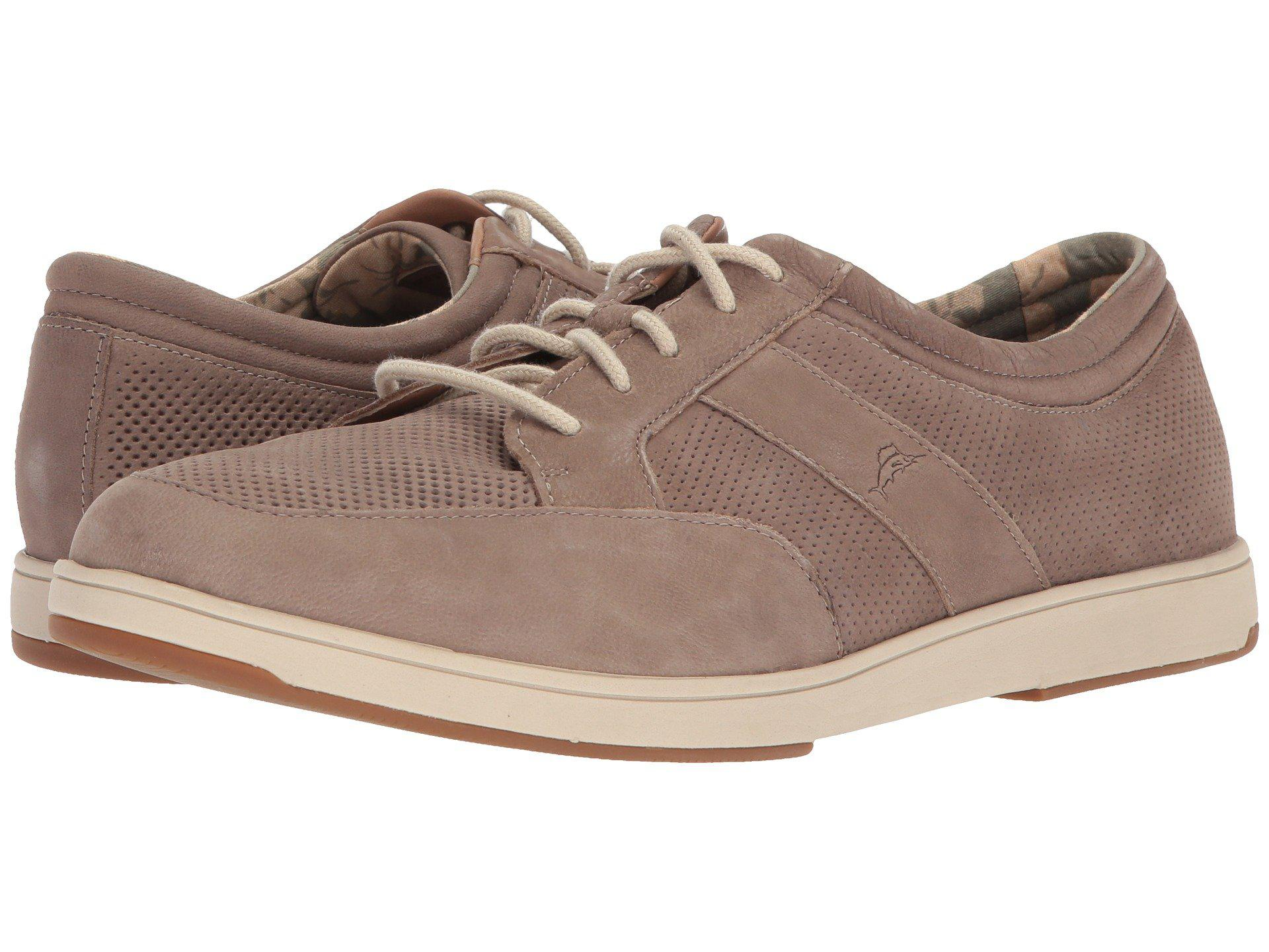 Tommy Bahama Caicos Authentic Relaxology Leather Sneaker Oskztso