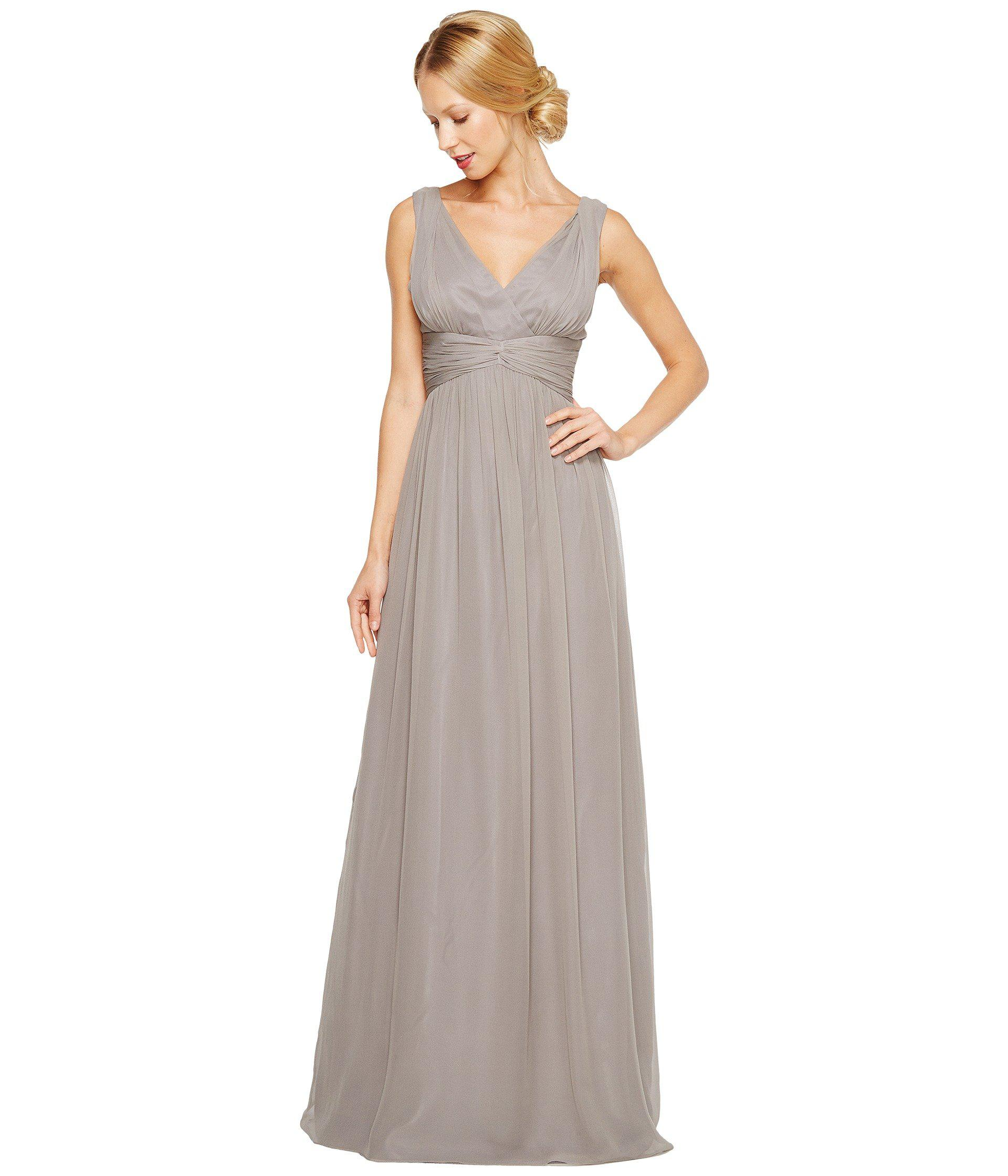 Lyst - Donna morgan Julie Bra Friendly Long Gown in Gray - Save 55%