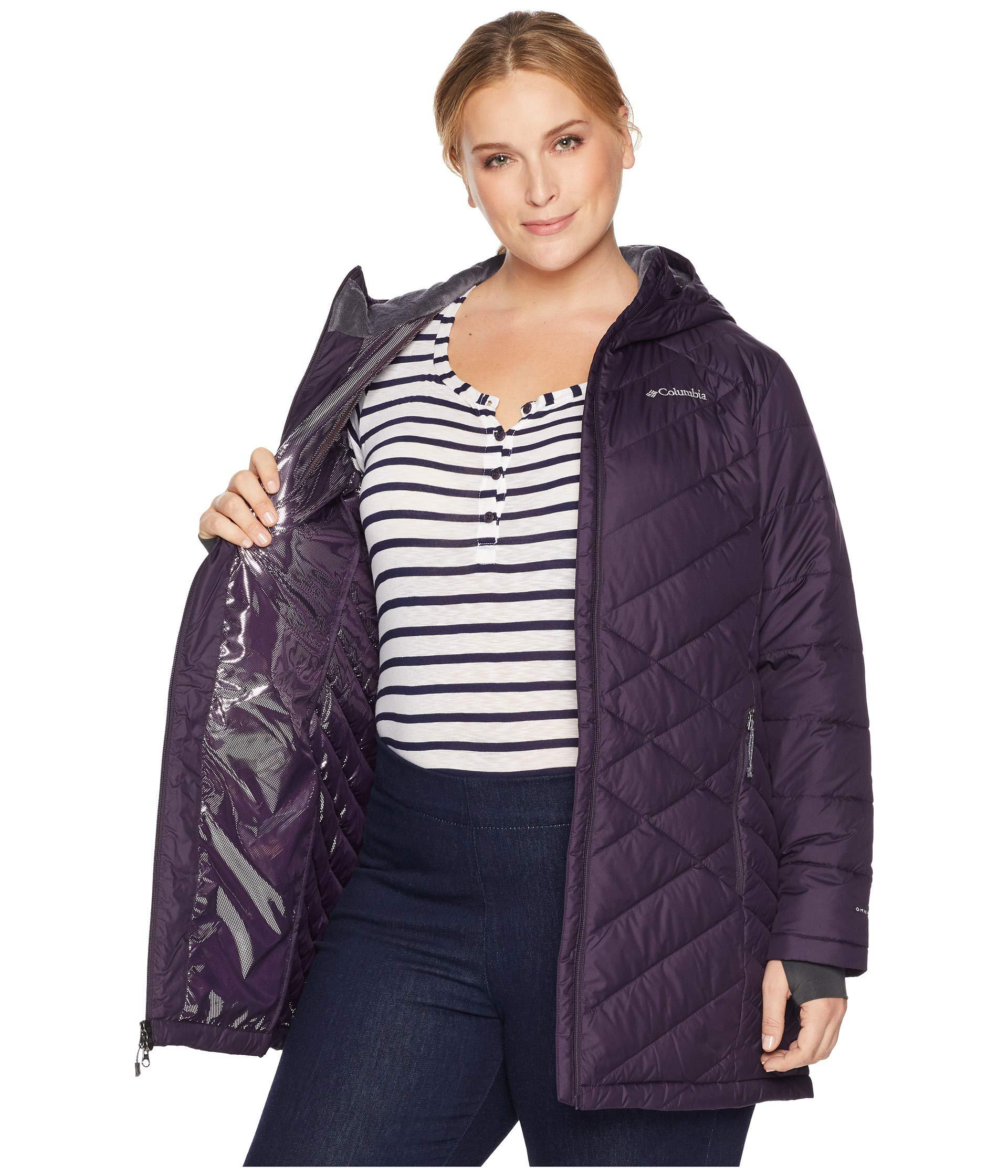 f7c79913714 Lyst - Columbia Plus Size Heavenly Long Hooded Jacket (nocturnal ...