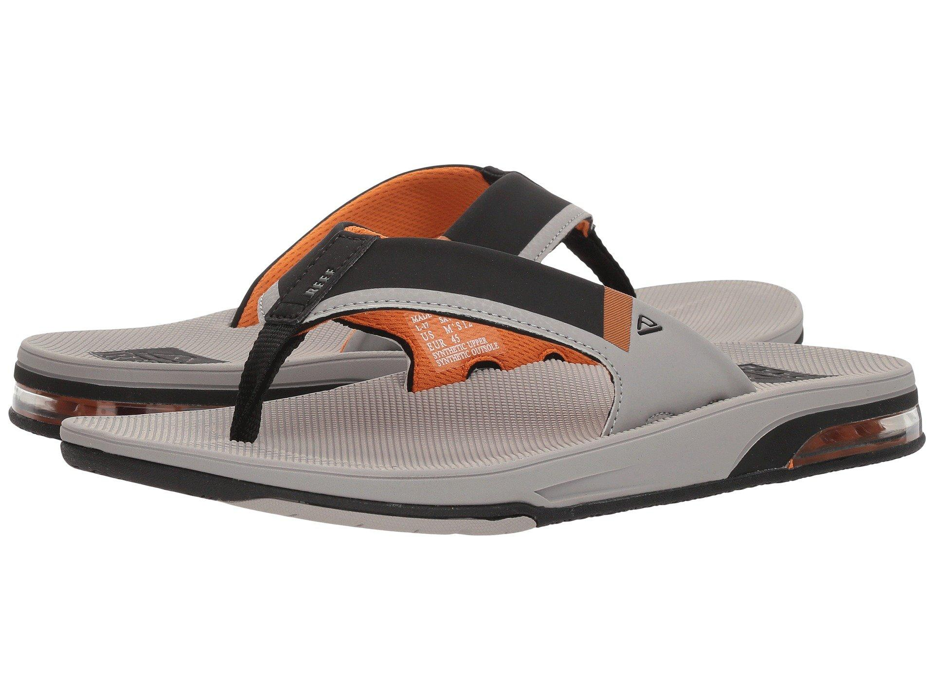 7fa8cc992864 Reef Fanning Low (black/green) Men's Sandals in Gray for Men - Lyst