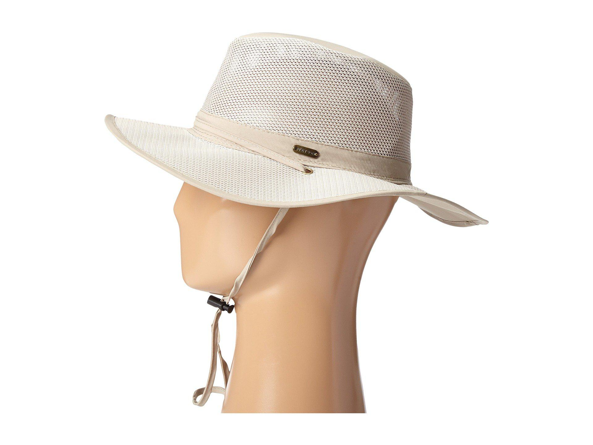 13e9858f9ca Stetson - Natural Big Brim Mesh Safari With No Fly Zone Insect Shield  Fabric (khaki. View fullscreen
