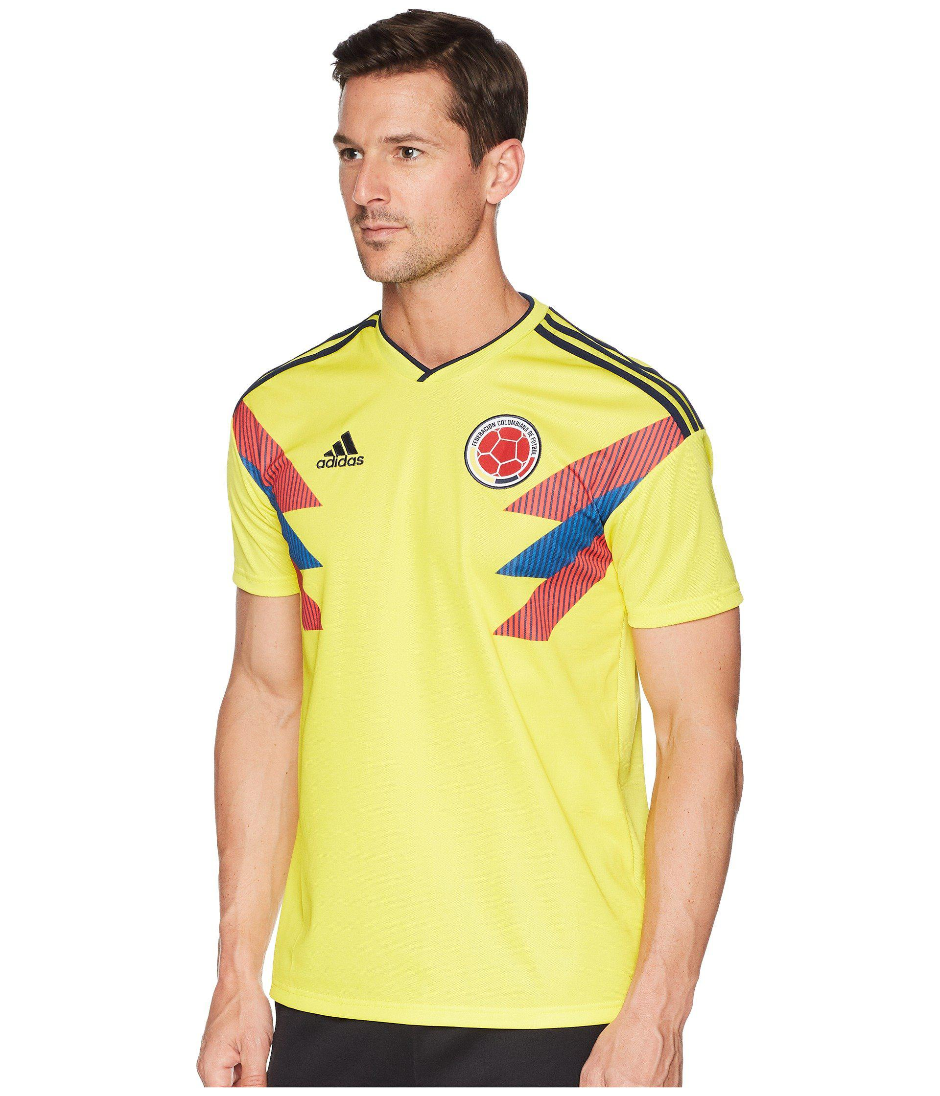 d2b5e6566 adidas 2018 Colombia Home Jersey in Yellow for Men - Lyst