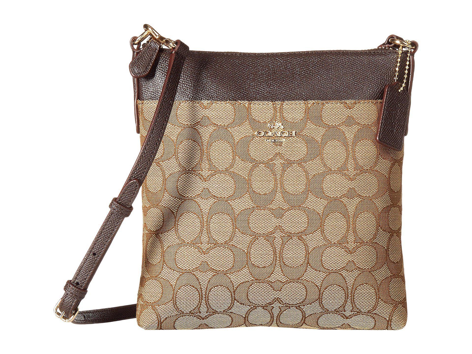 ceca276829 COACH. Women s Signature Messenger Crossbody (light khaki brown) Cross Body  Handbags