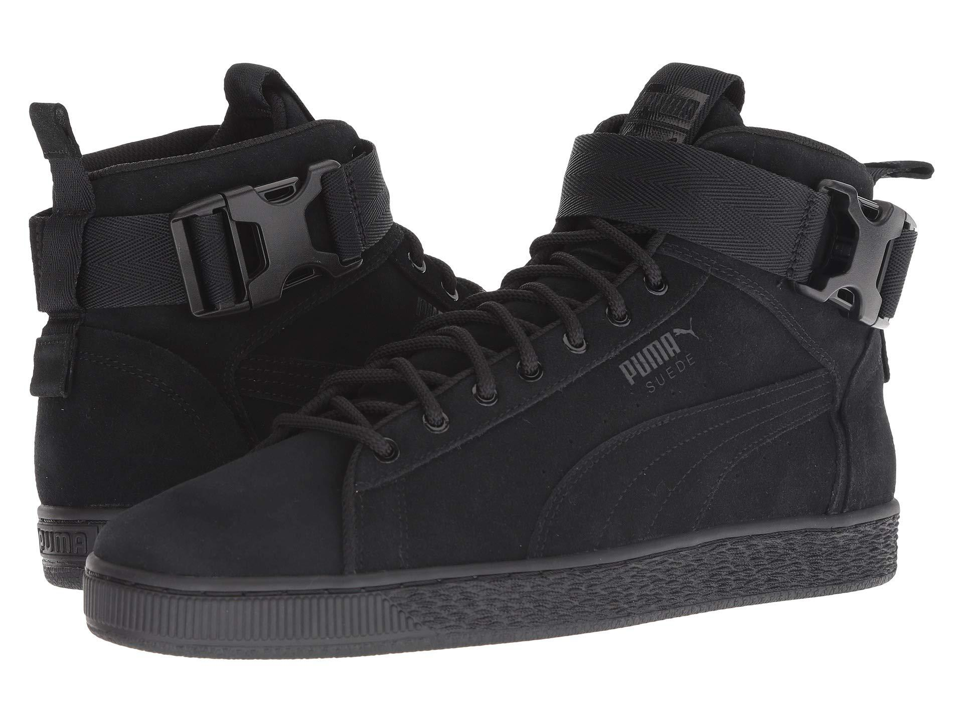 Lyst - PUMA Suede Classic Mid Buckle ( Black  Black) Men s Boots in ... 641bd73ca