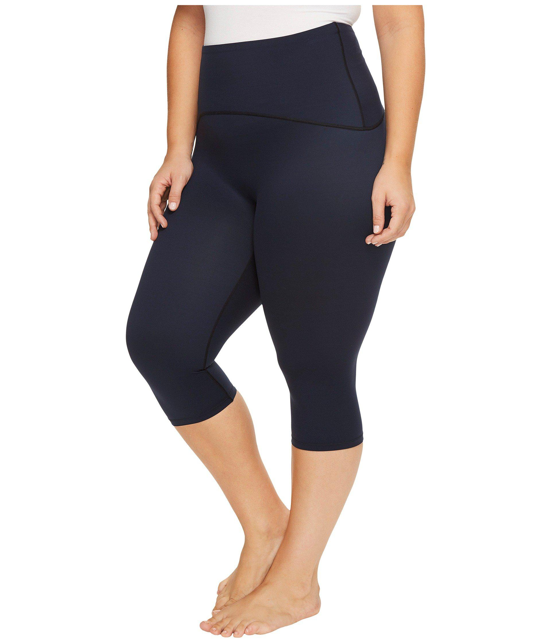 79c53a18055 Lyst - Spanx Plus Size Active Compression Knee Pants in Blue