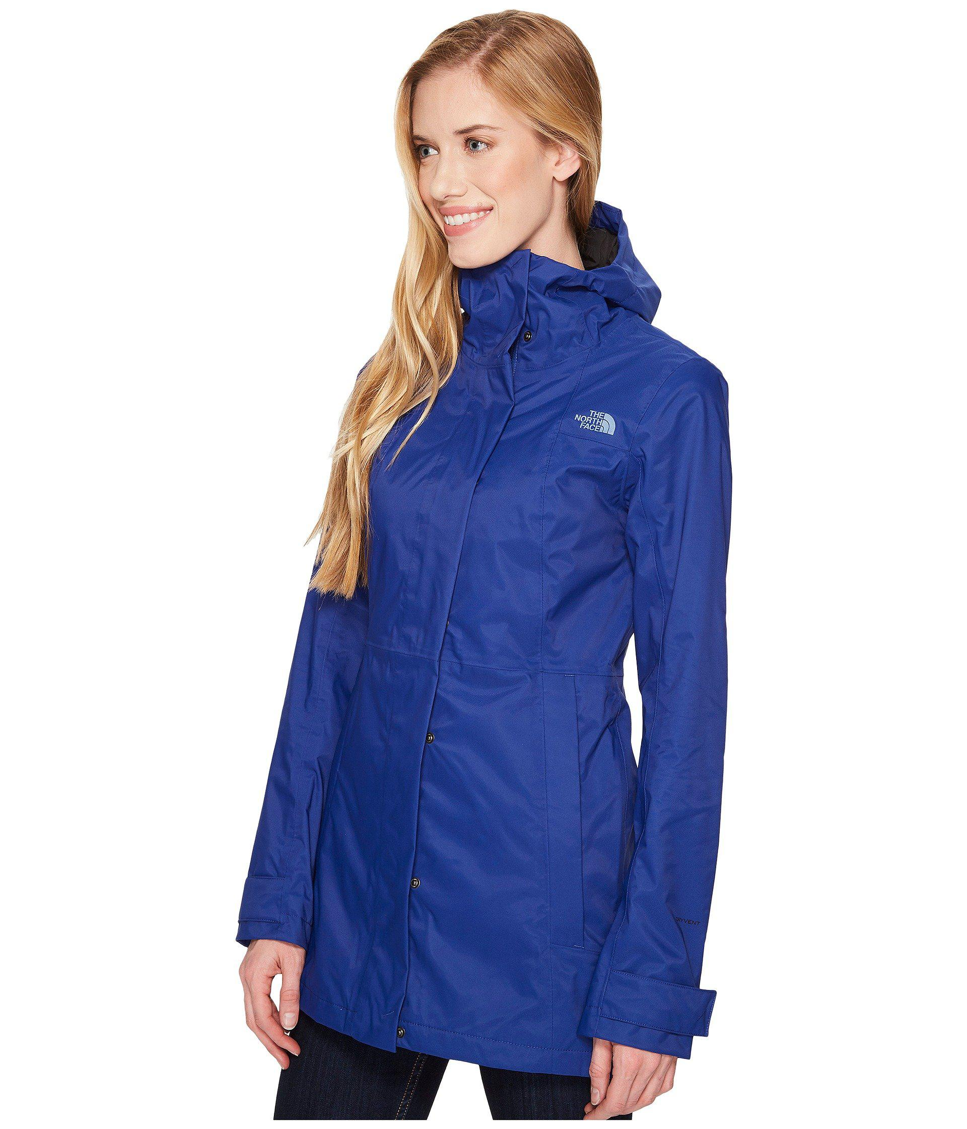 121a9176fb Lyst - The North Face City Midi Trench (sodalite Blue) Women s Coat in Blue