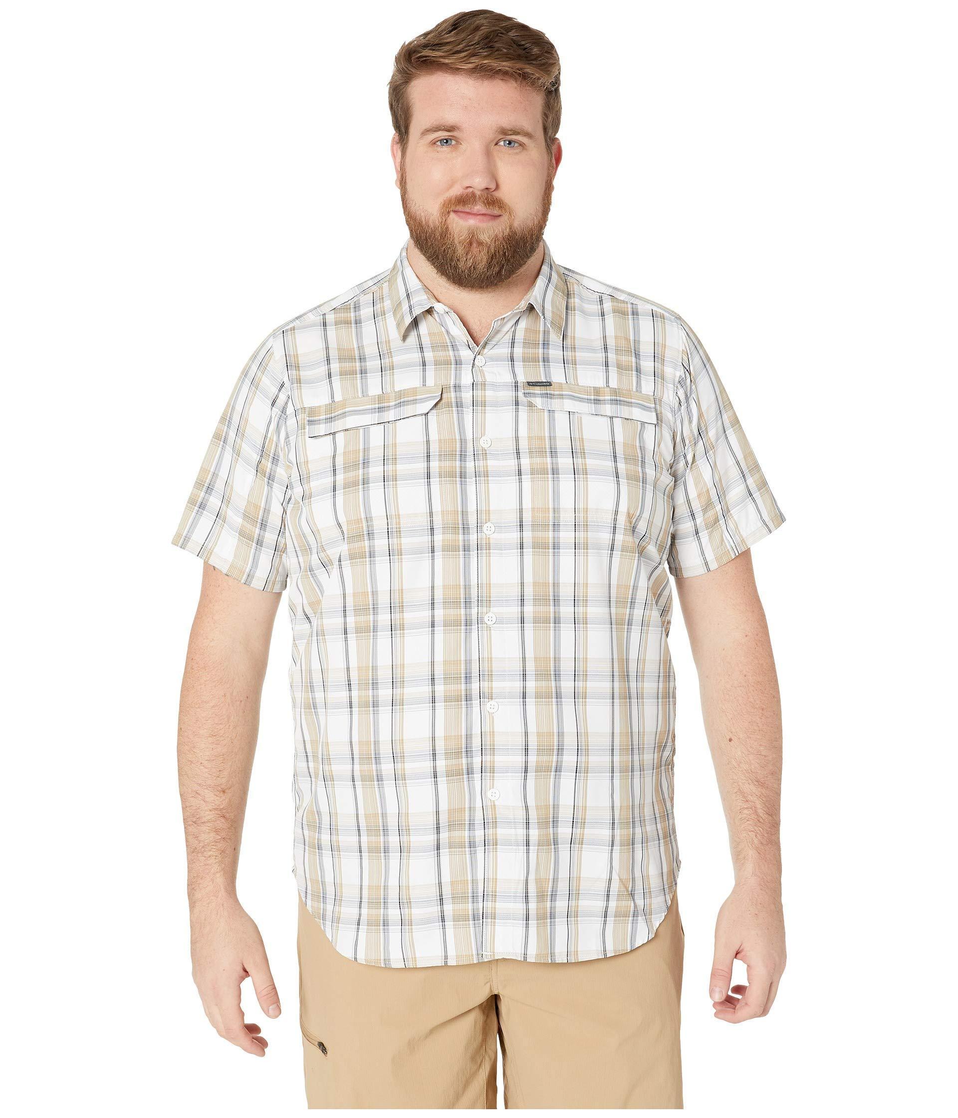 b712ee42623 Columbia. Big And Tall Silver Ridge 2.0 Multi Plaid Short Sleeve Shirt  (beach Plaid) Men's Short Sleeve Button Up