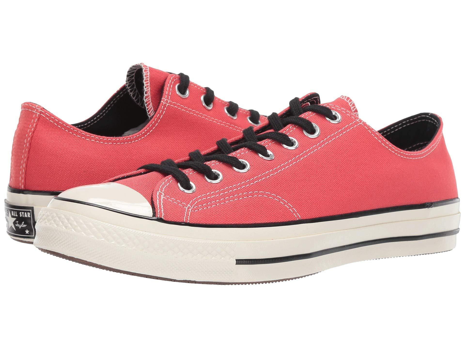 d9f27c8a1893ca Converse. Women s Red Chuck Taylor(r) All Star(r)  70 Vintage Canvas Ox  (barkroot Brown black egret) ...