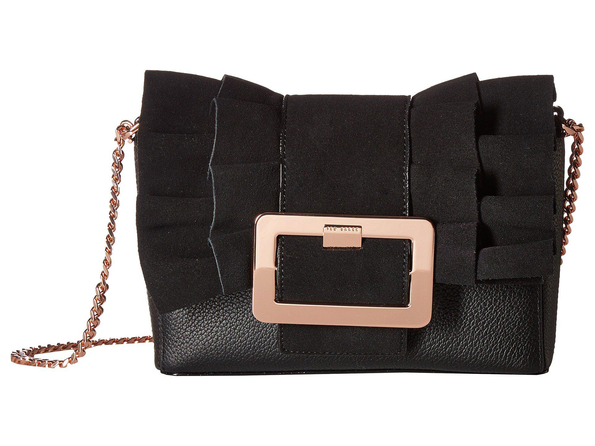8f760997a4bfb4 Lyst - Ted Baker Frill Buckle Clutch in Black