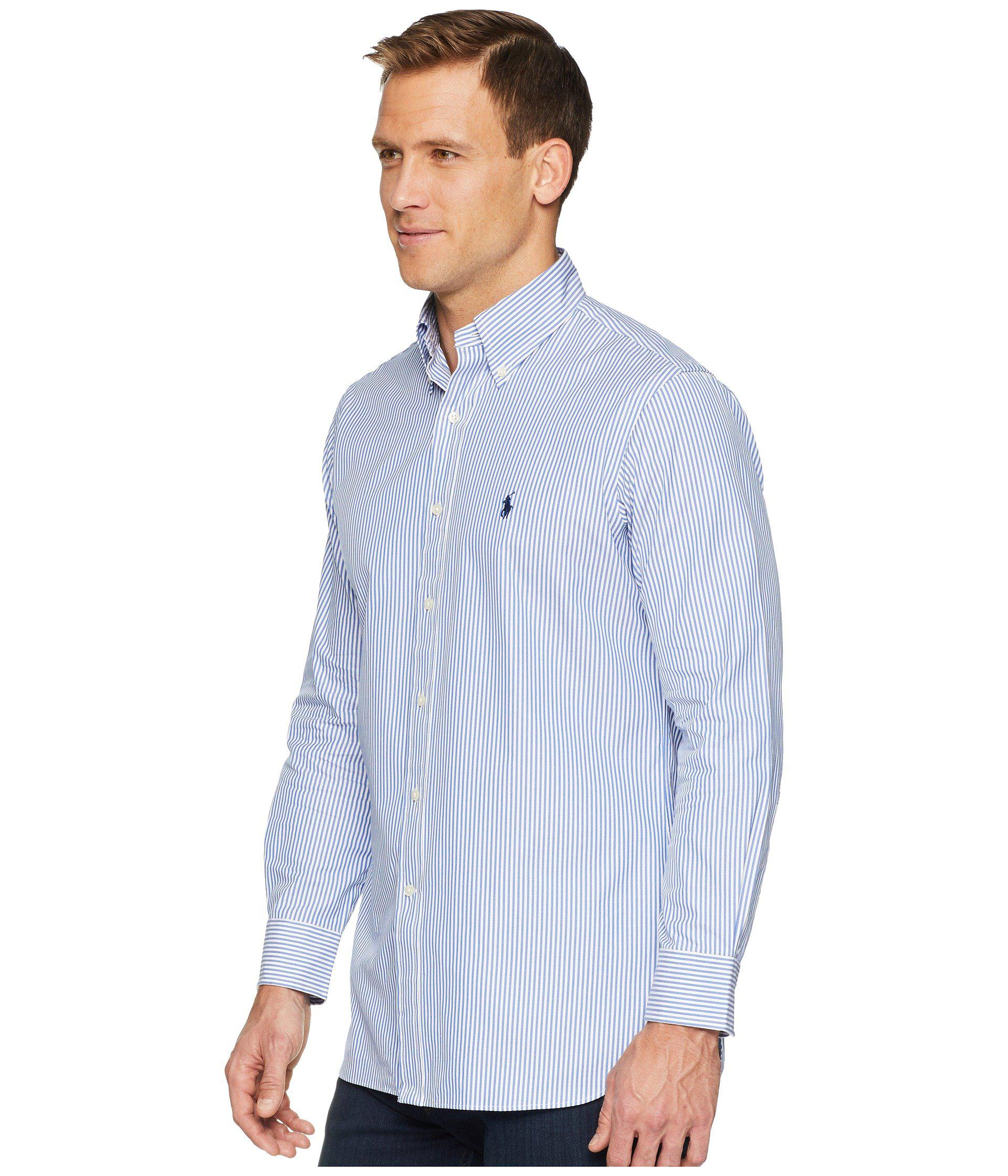dd482a8365035 Lyst - Polo Ralph Lauren Standard Fit Poplin Dress Shirt (white) Men s Long  Sleeve Button Up in Blue for Men - Save 11%