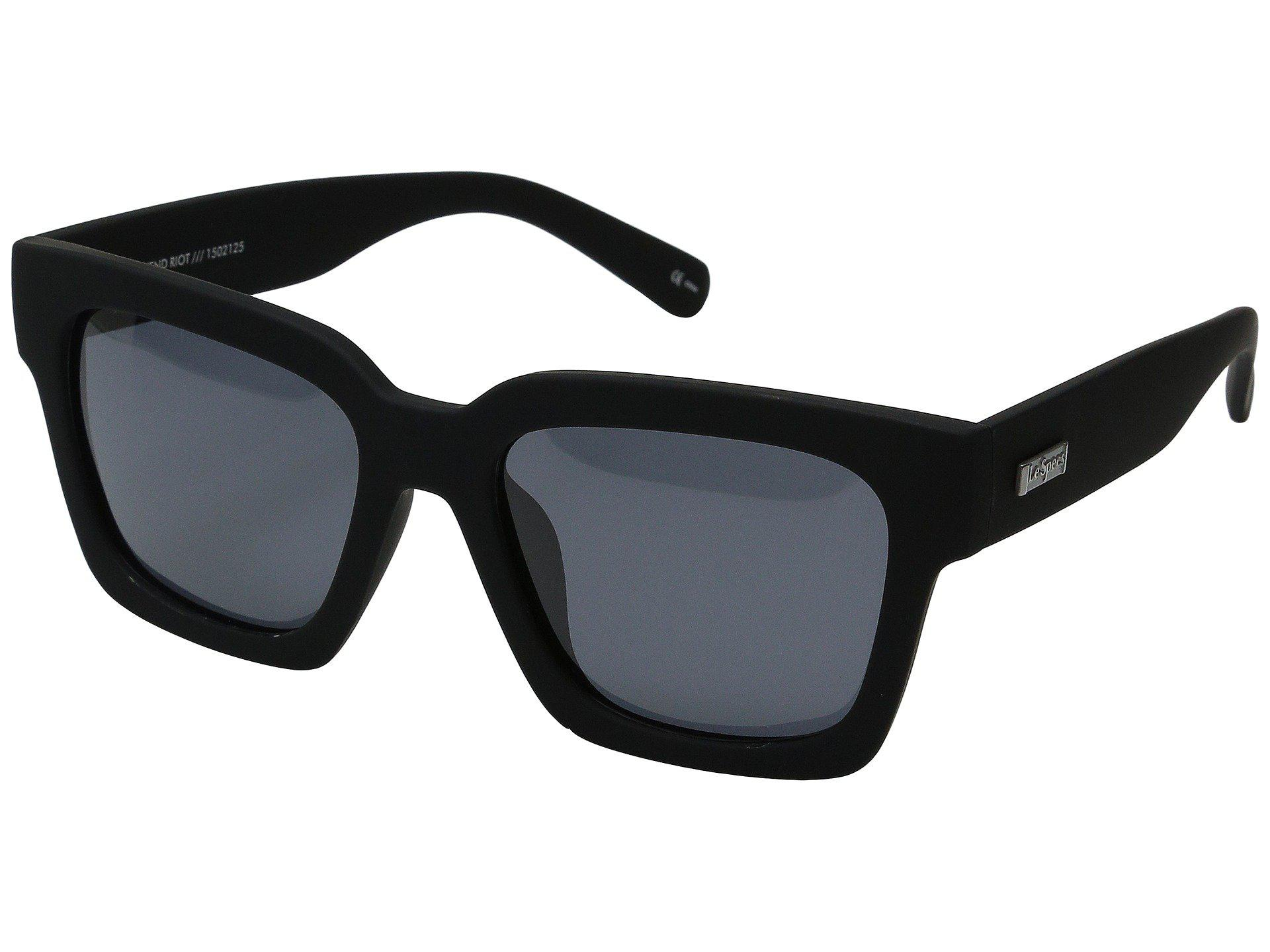 fd0e2c59436 Lyst - Le Specs Weekend Riot (black Rubber) Fashion Sunglasses in ...