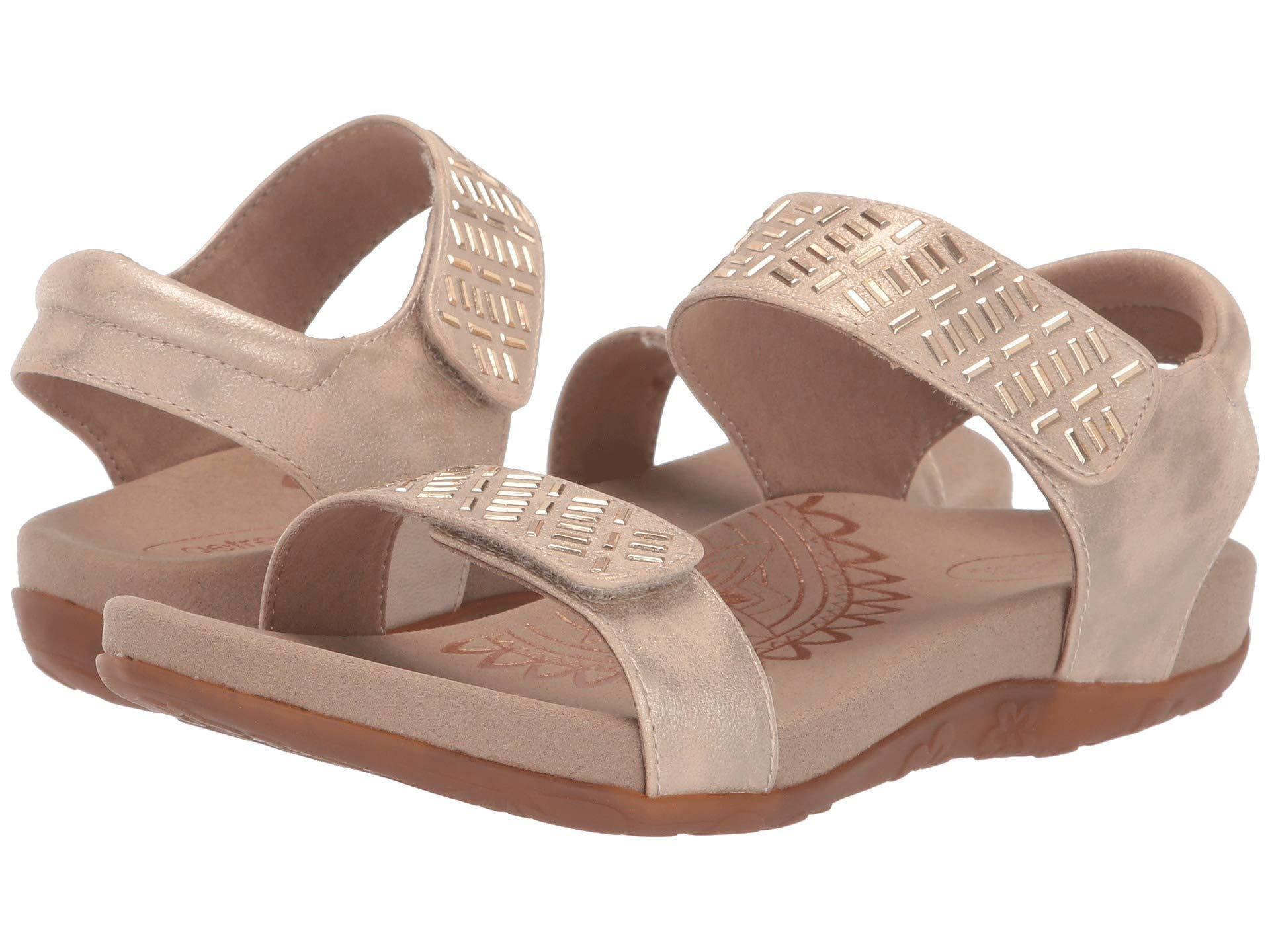 4e5c799dda8 Lyst - Aetrex Marcy (black) Women s Sandals