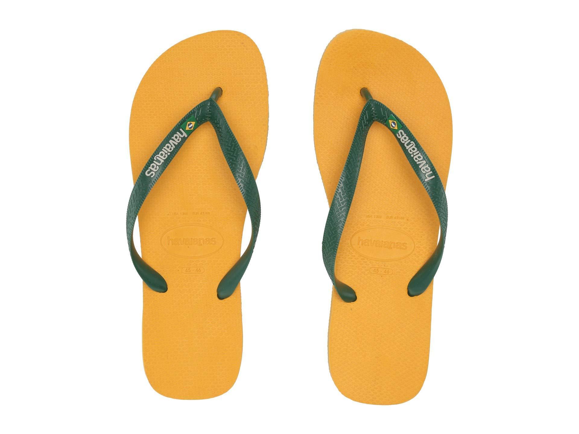 51816c7ecdfd2c Havaianas - Brazil Logo Flip Flops (banana Yellow) Men s Sandals for Men -  Lyst. View fullscreen