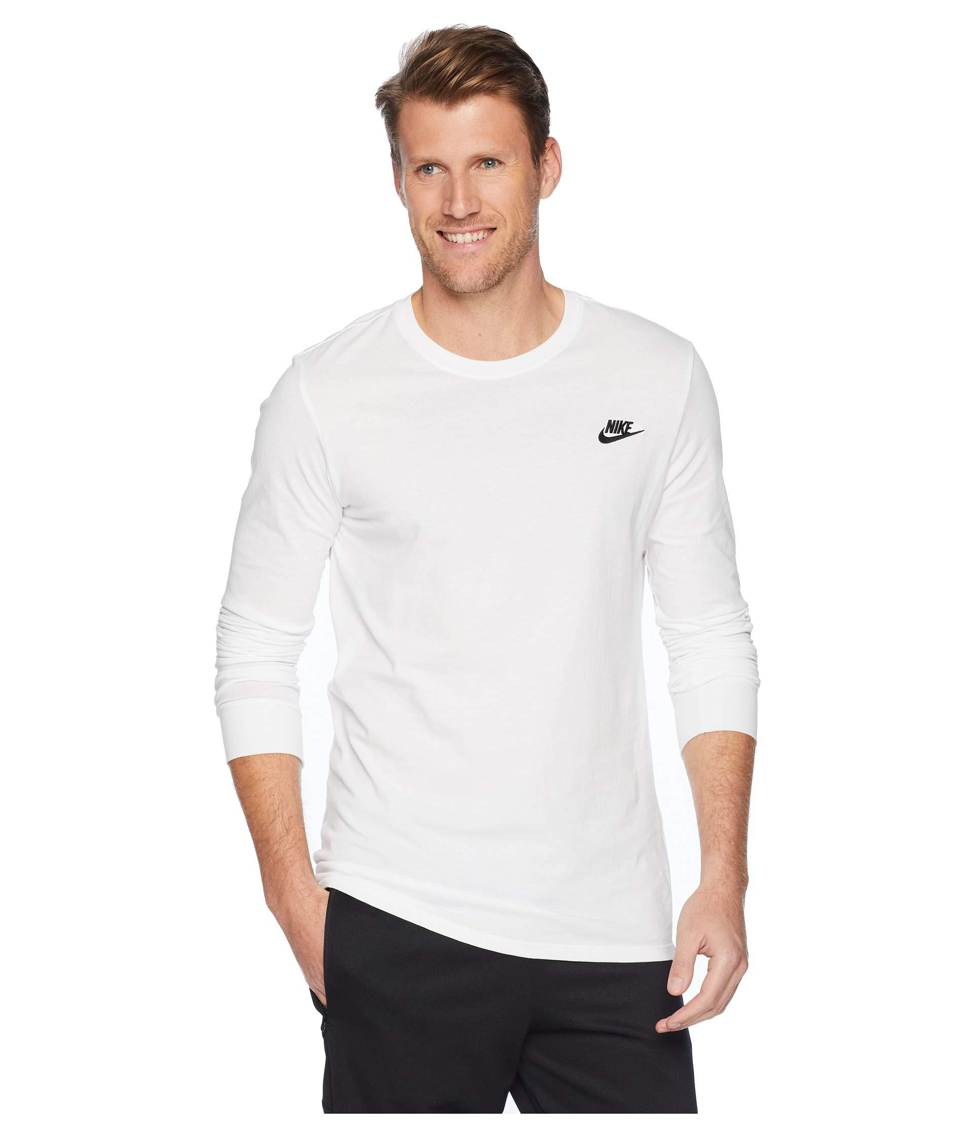 19856dd61 Lyst - Nike Nsw Tee Long Sleeve Embroided Futura (white/black) Men's ...