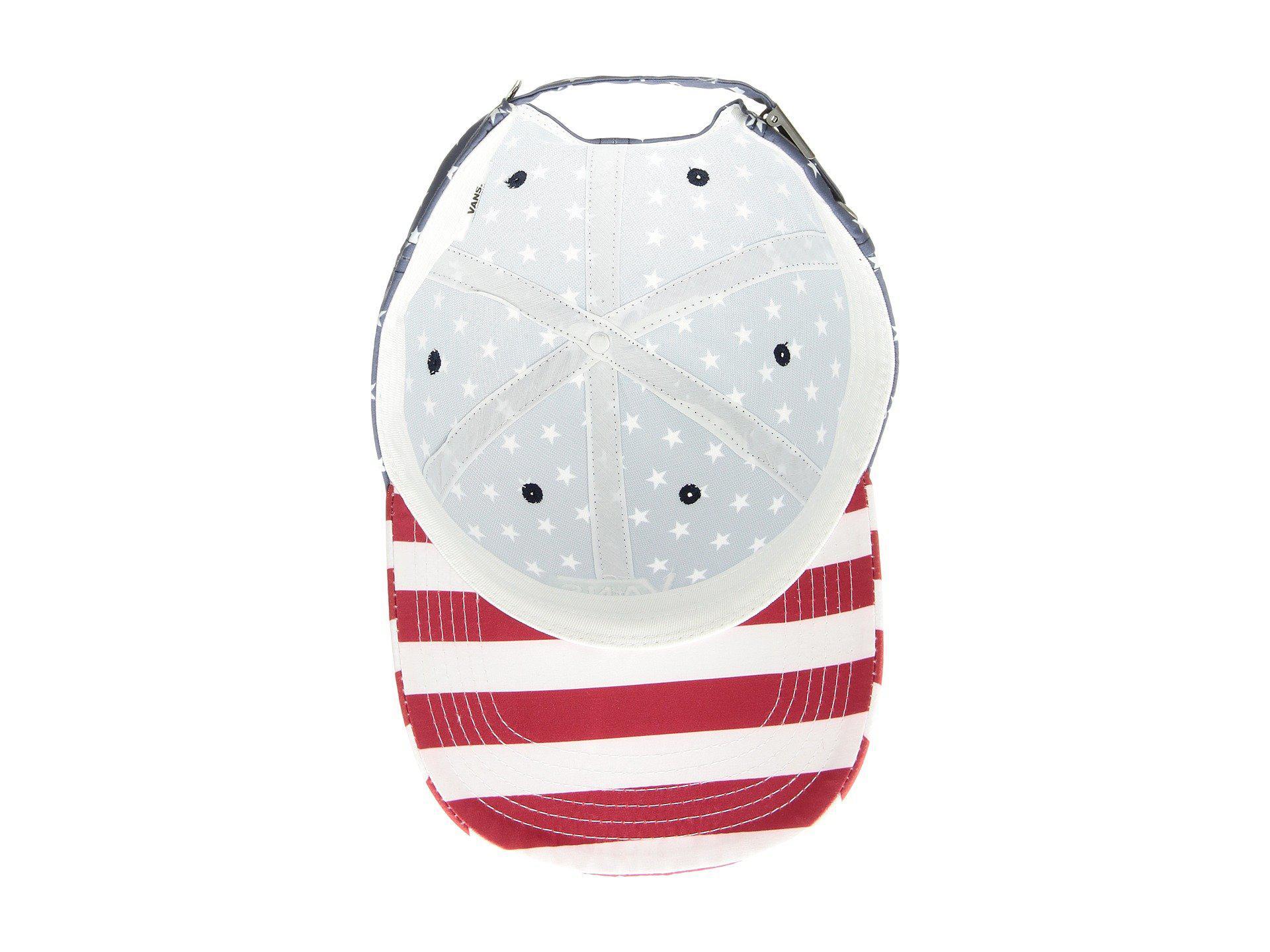 4b61587b3d8 Lyst - Vans Court Side Printed Hat (stars And Stripes) Caps