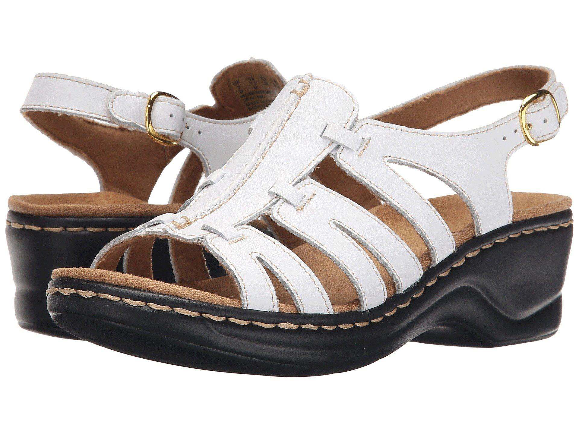 ff7844865f77 Lyst - Clarks Lexi Marigold Q (black Leather) Women s Sandals in White