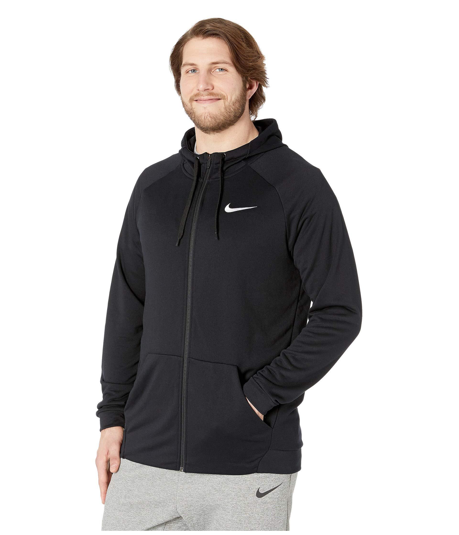 6657f9ae4f Lyst - Nike Big Tall Dry Training Full Zip Hoodie (black white) Men s Fleece  in Black for Men