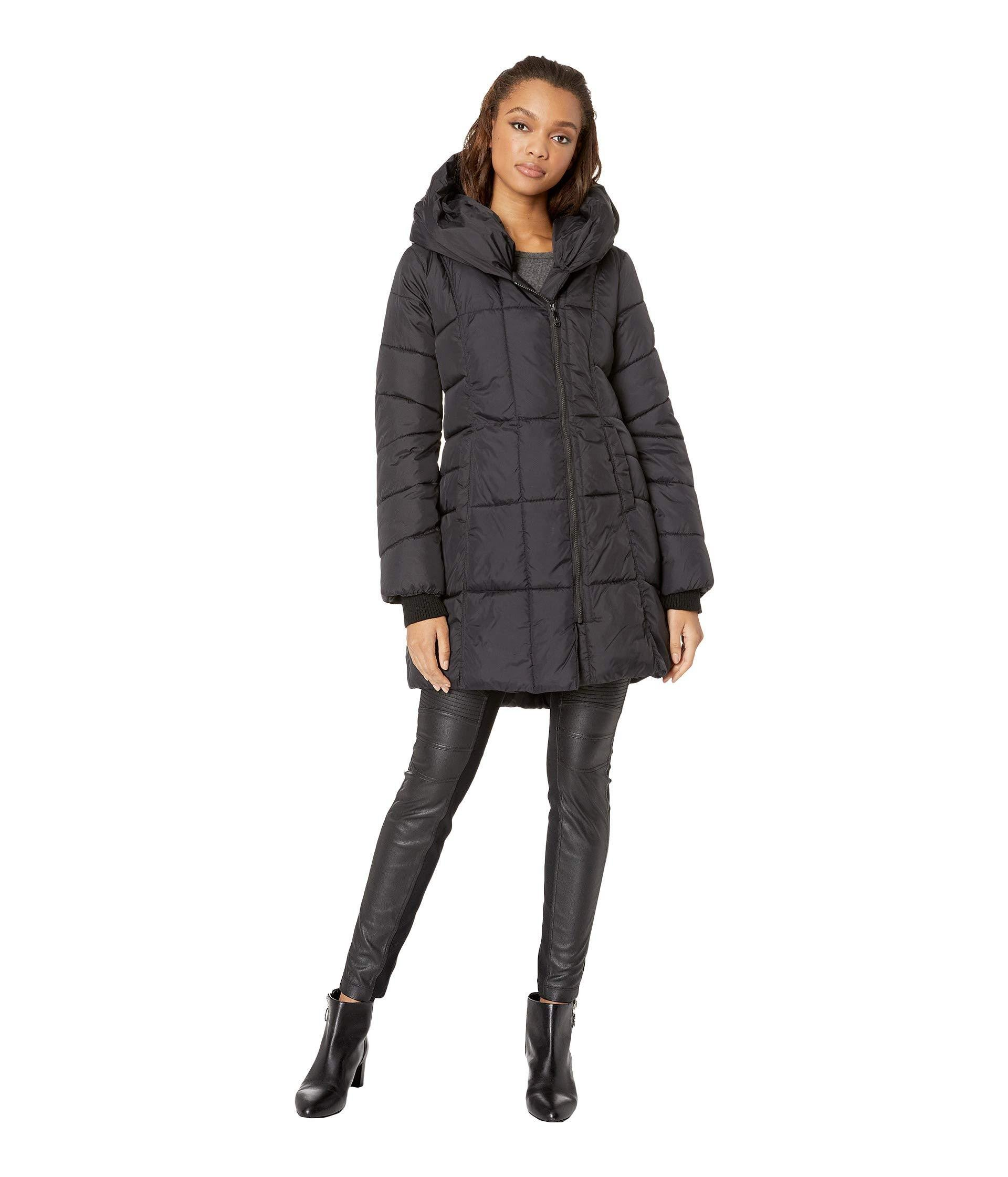 63998c8f247c Lyst - Sam Edelman Pillow Collar Puffer Jacket (black) Women s Coat ...
