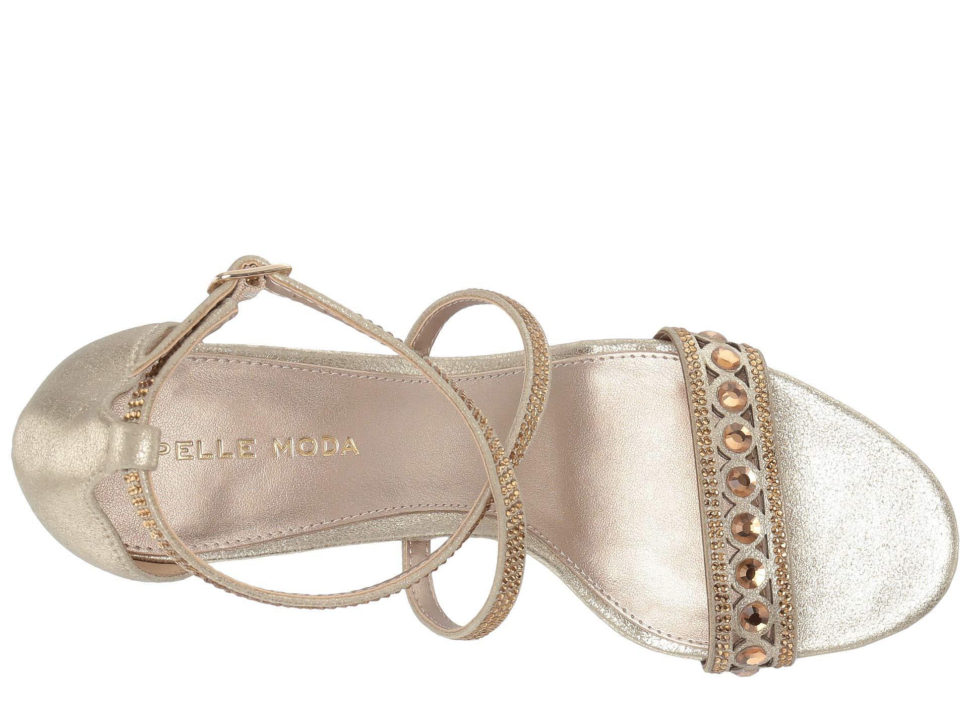 2afbddefd0aa Pelle Moda - Rory (silver Metallic Suede) Women s Dress Sandals - Lyst.  View fullscreen