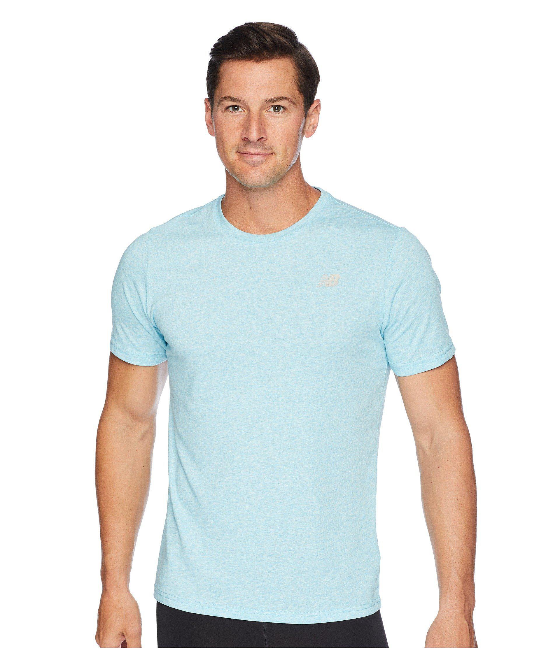 8d5a8fdf New Balance Heather Tech Short Sleeve (black Heather) Men's T Shirt ...