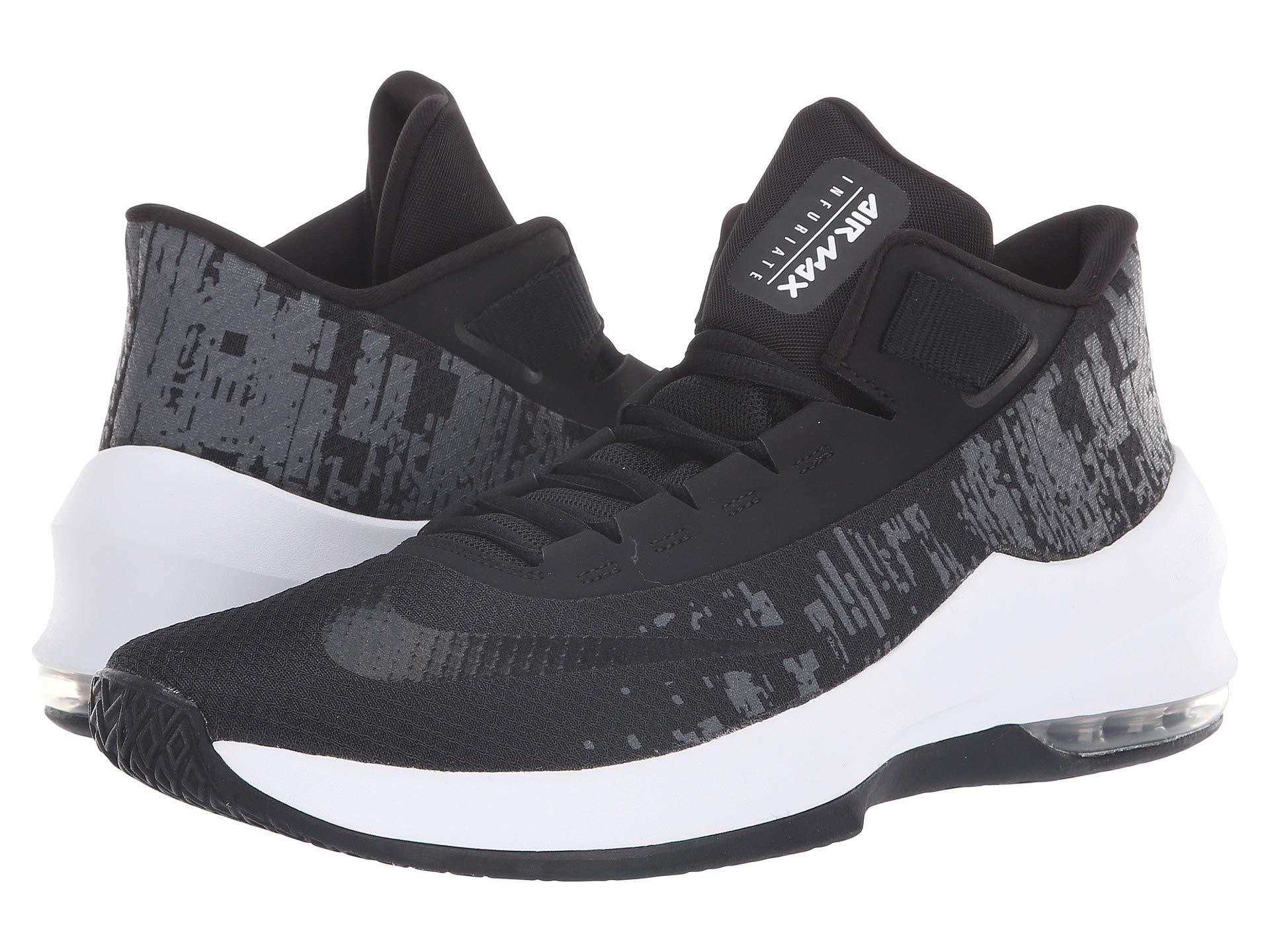 389aad89bcd Lyst - Nike Air Max Infuriate 2 Mid (white black pure Platinum ...