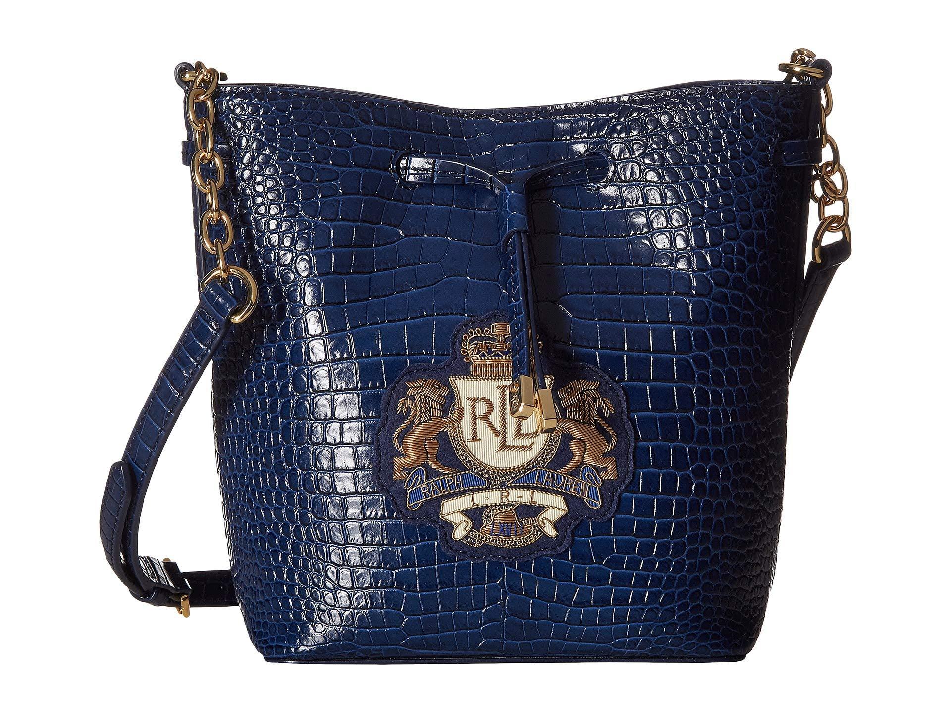 Lauren by Ralph Lauren. Women s Blue Debby Ii Drawstring Small (navy)  Handbags d5a991dffdc91