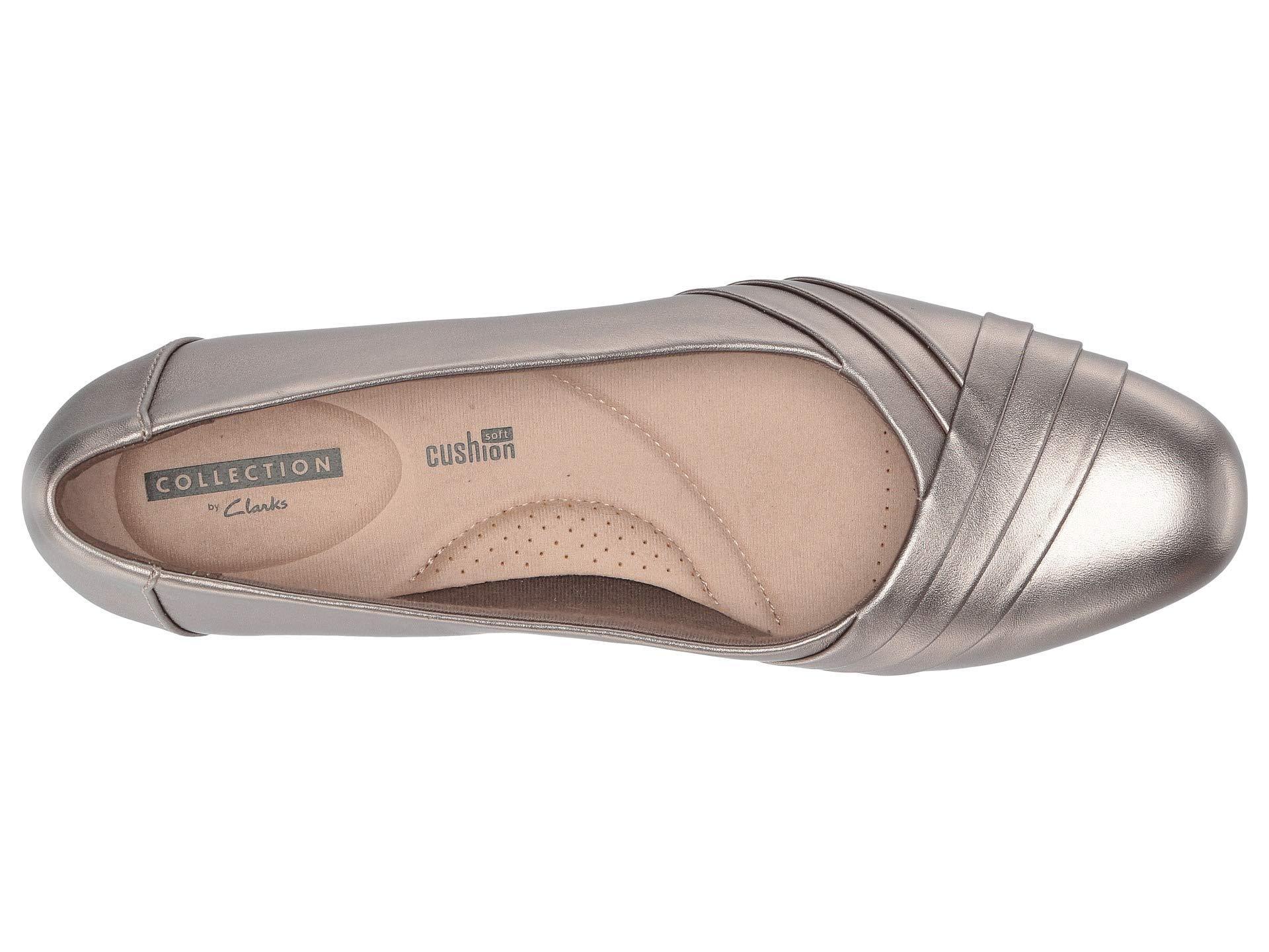 8c0828aa878 Lyst - Clarks Juliet Petra (pewter Leather) Women s 1-2 Inch Heel Shoes