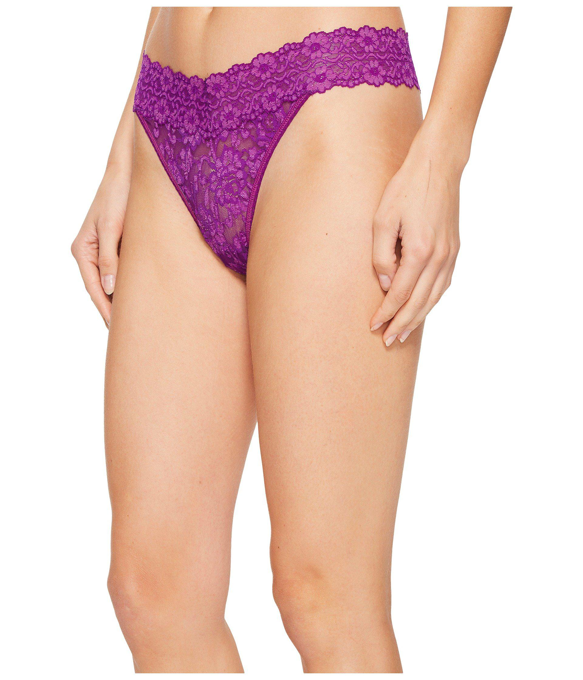 5c0b8f3d8ff Lyst - Hanky Panky Cross-dyed Signature Lace Original Rise Thong  (taupe vanilla) Women s Underwear - Save 5%
