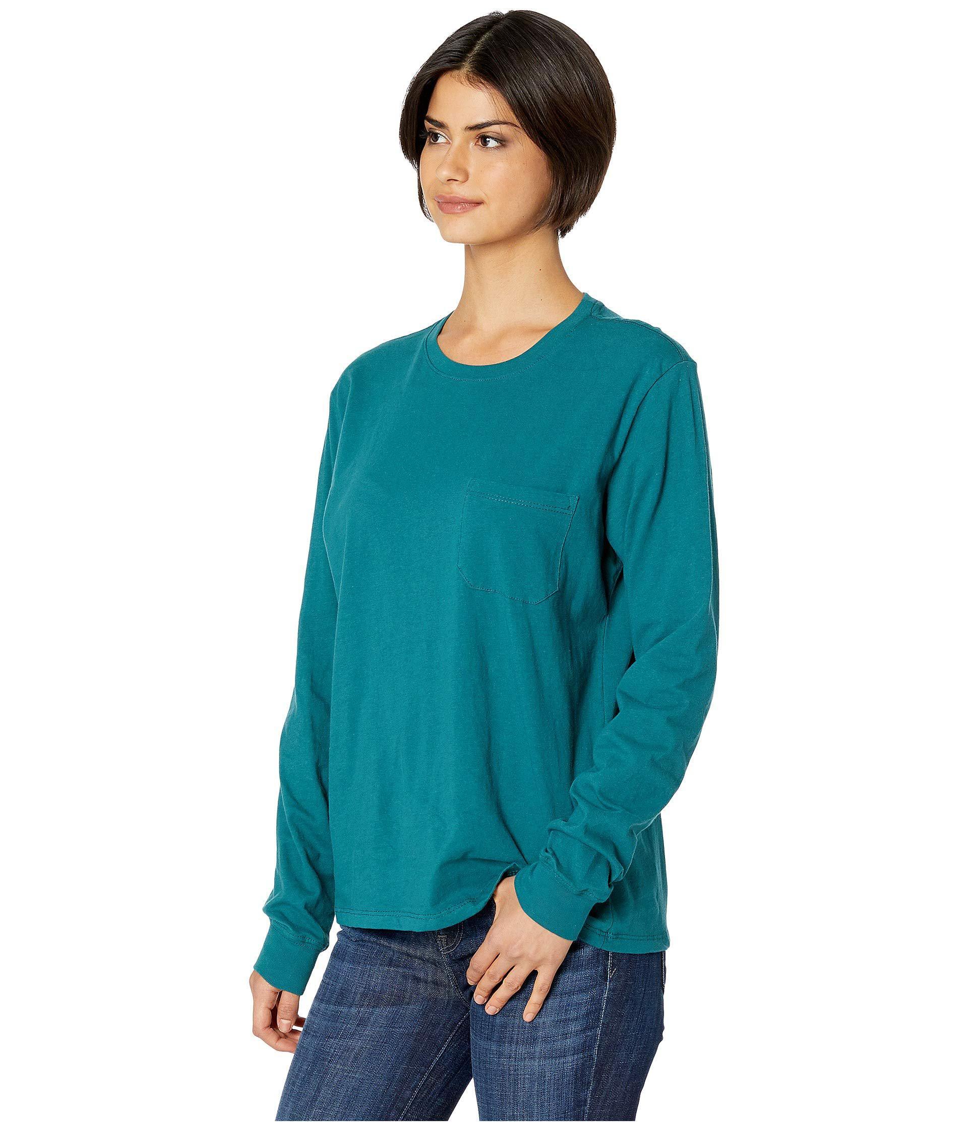 ec5b7e2d596 Lyst - Richer Poorer Long Sleeve Pocket Tee (green) Women s T Shirt in Green
