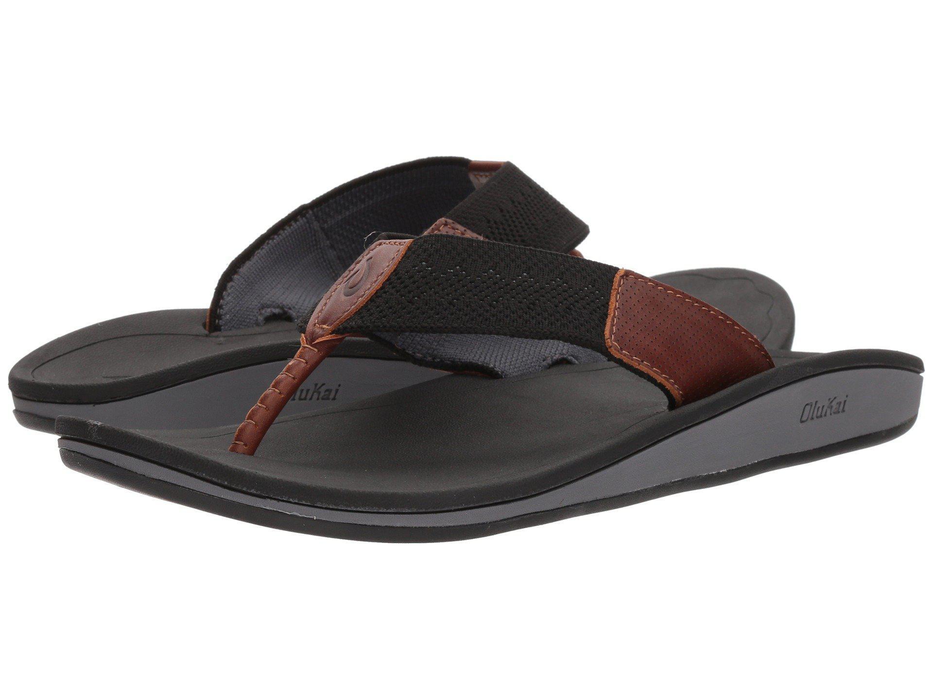 56e6c9103ace Lyst - Olukai Nohona Ulana (black black) Men s Sandals in Black for Men