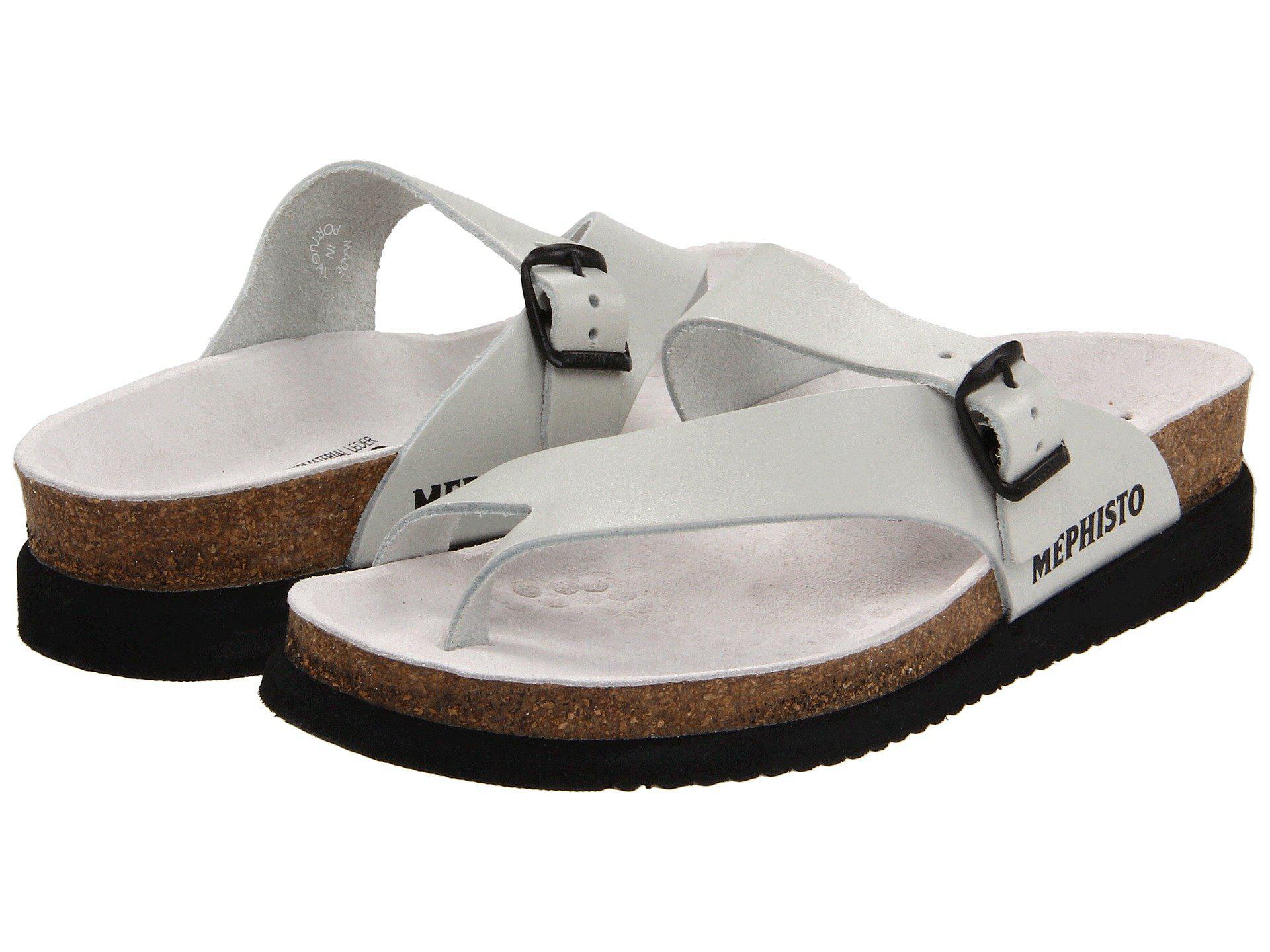 9790e703973c Lyst - Mephisto Helen (black Patent) Women s Sandals in White - Save 1%